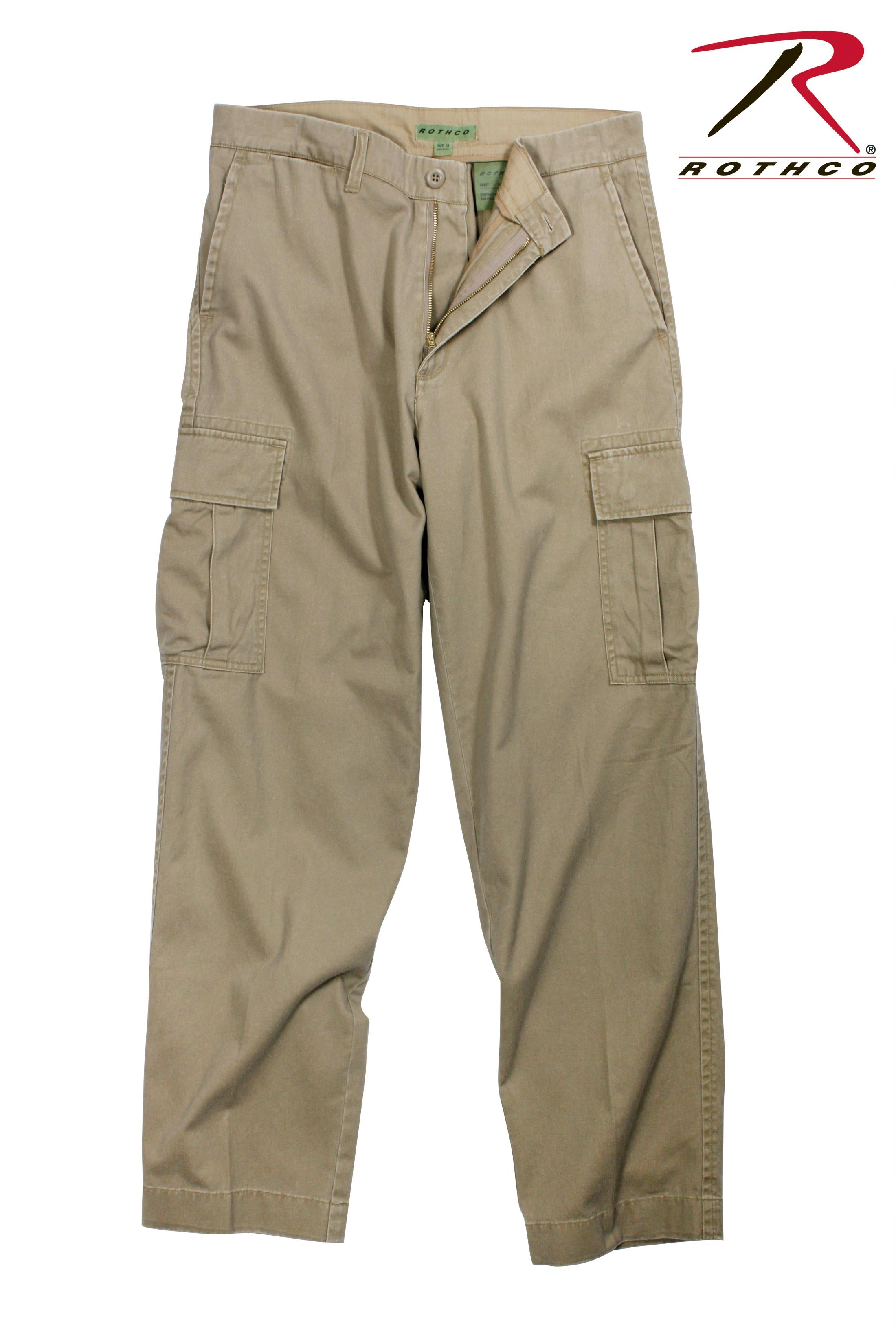 Rothco Vintage 6-Pocket Flat Front Fatigue Pants - Khaki / 34