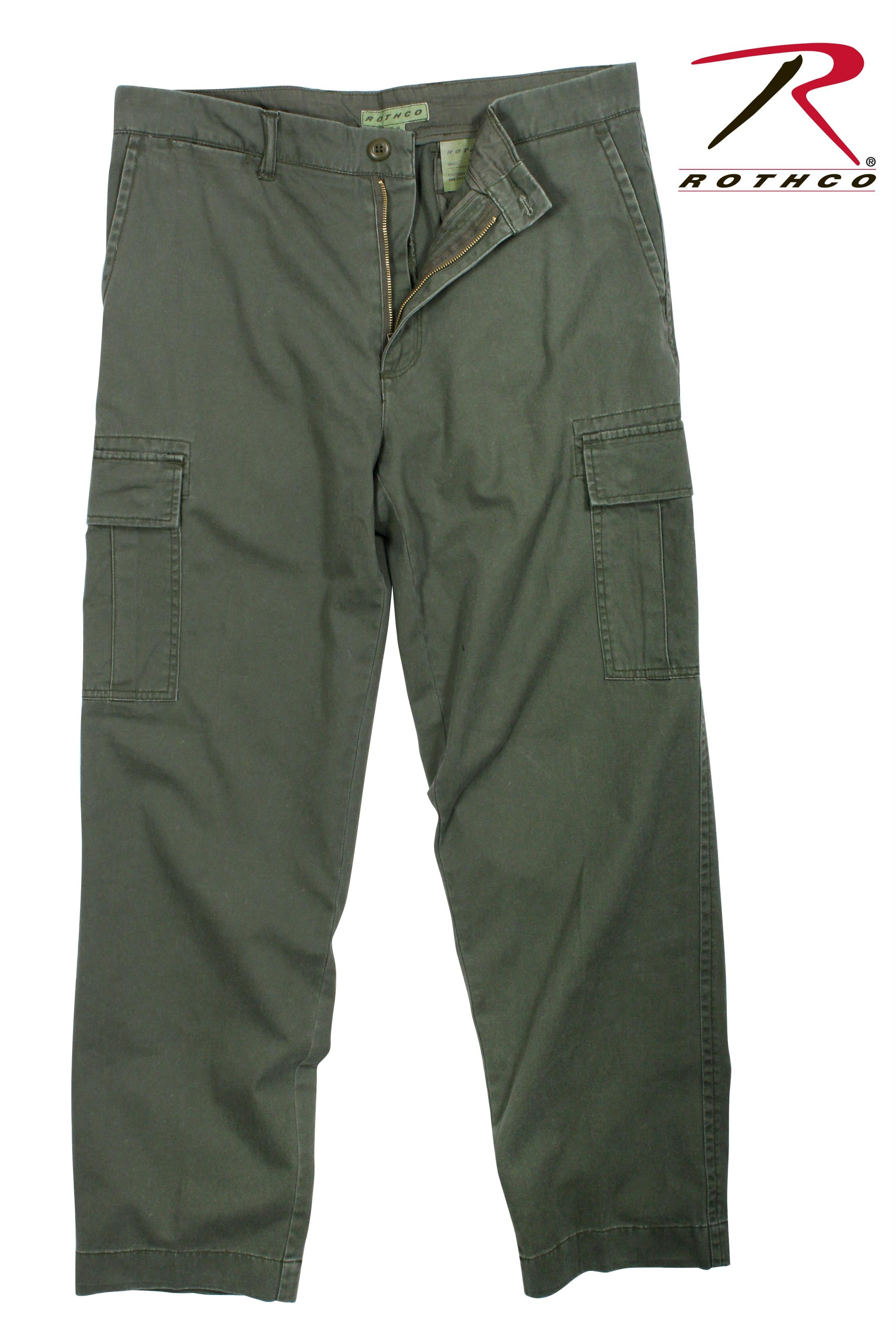 Rothco Vintage 6-Pocket Flat Front Fatigue Pants - Olive Drab / 36