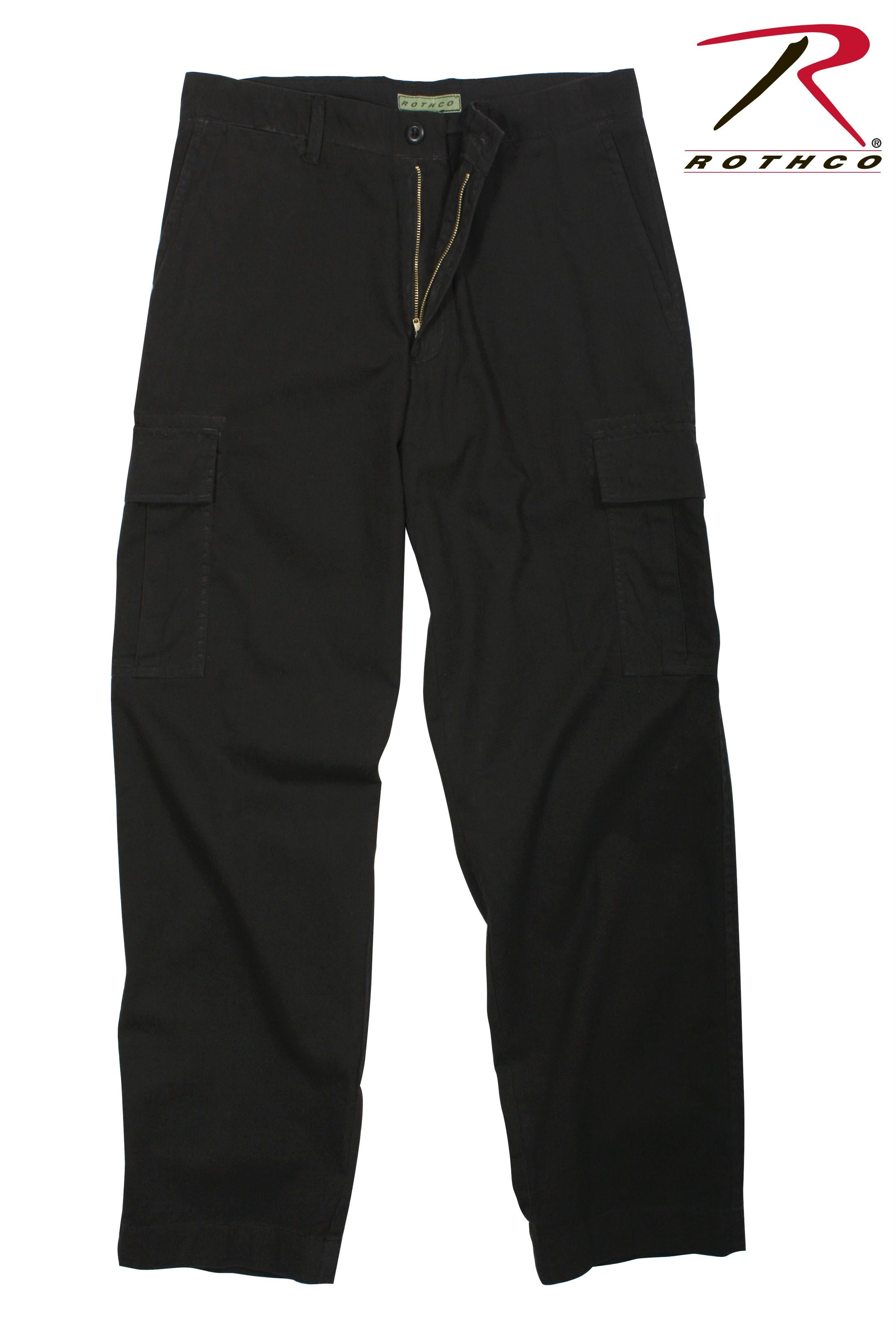 Rothco Vintage 6-Pocket Flat Front Fatigue Pants - Black / 36
