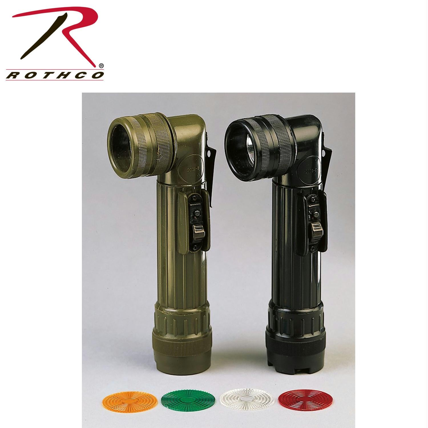 Rothco Army Style C-Cell Flashlights - Olive Drab
