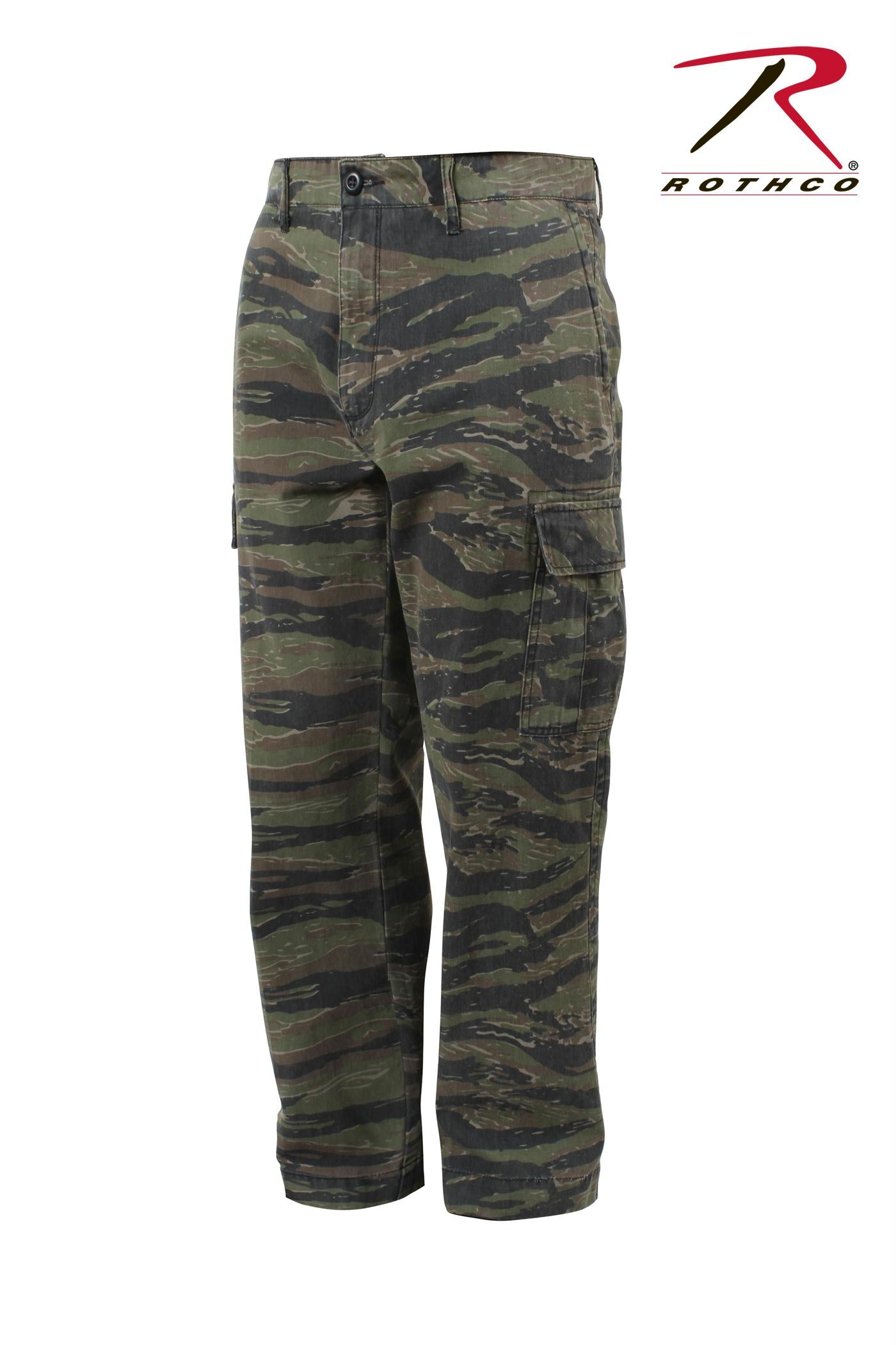Rothco Vintage 6-Pocket Flat Front Fatigue Pants - Tiger Stripe Camo / 36