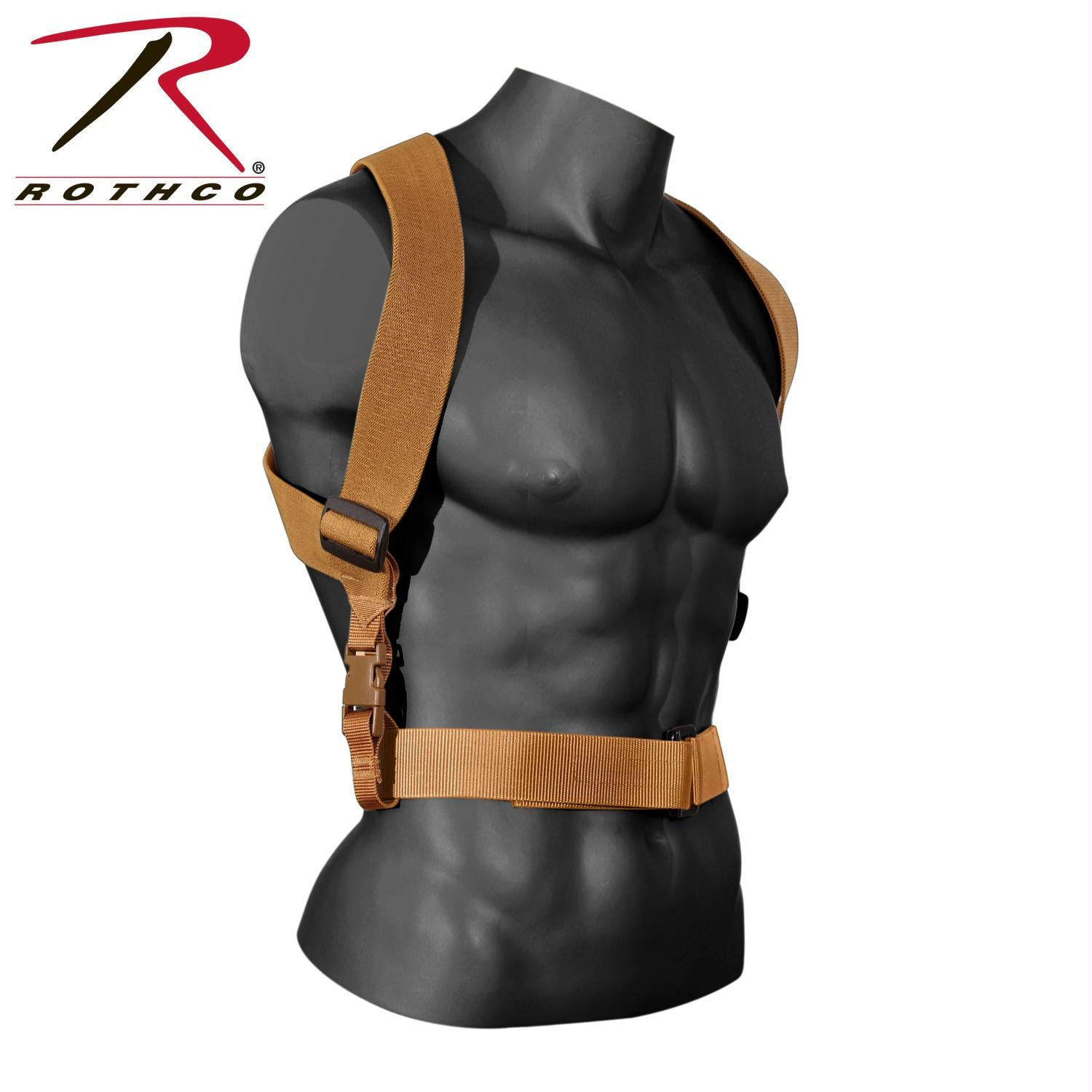 Rothco Combat Suspenders - Coyote Brown