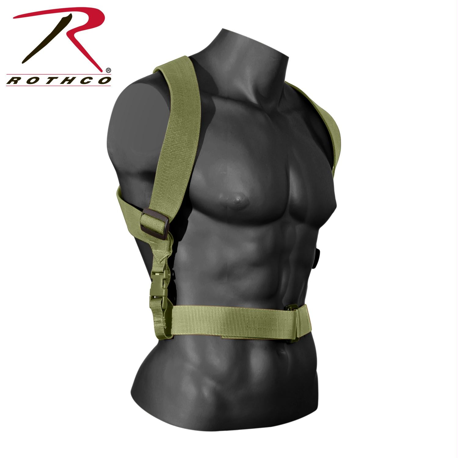 Rothco Combat Suspenders - Olive Drab