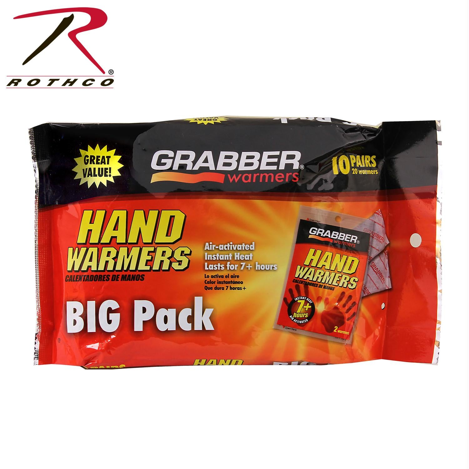 Grabber Hand Warmers - 10 Pack