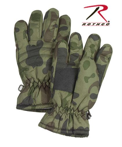 Rothco Kid's Camo Thermoblock Insulated Gloves - M