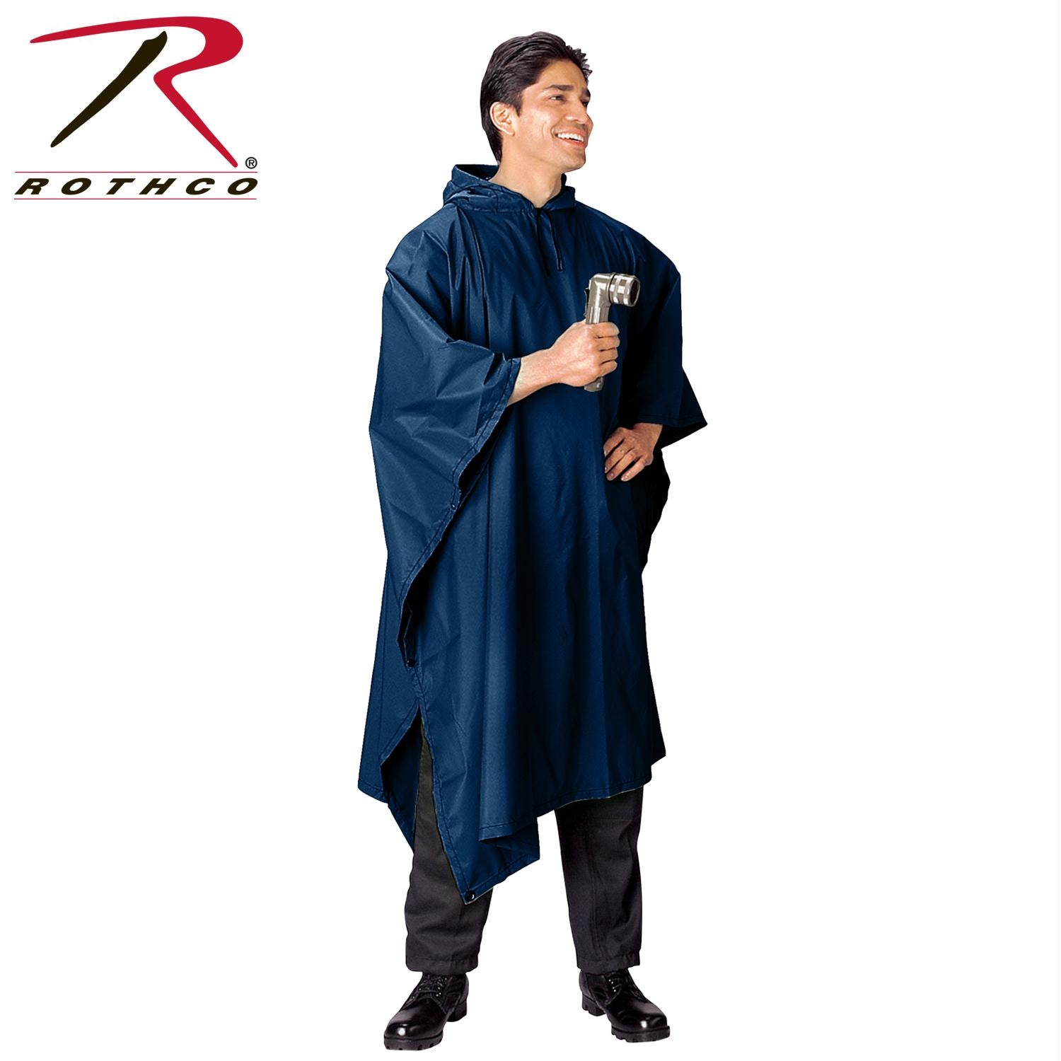 Rothco G.I. Type Military Rip-Stop Poncho - Navy Blue