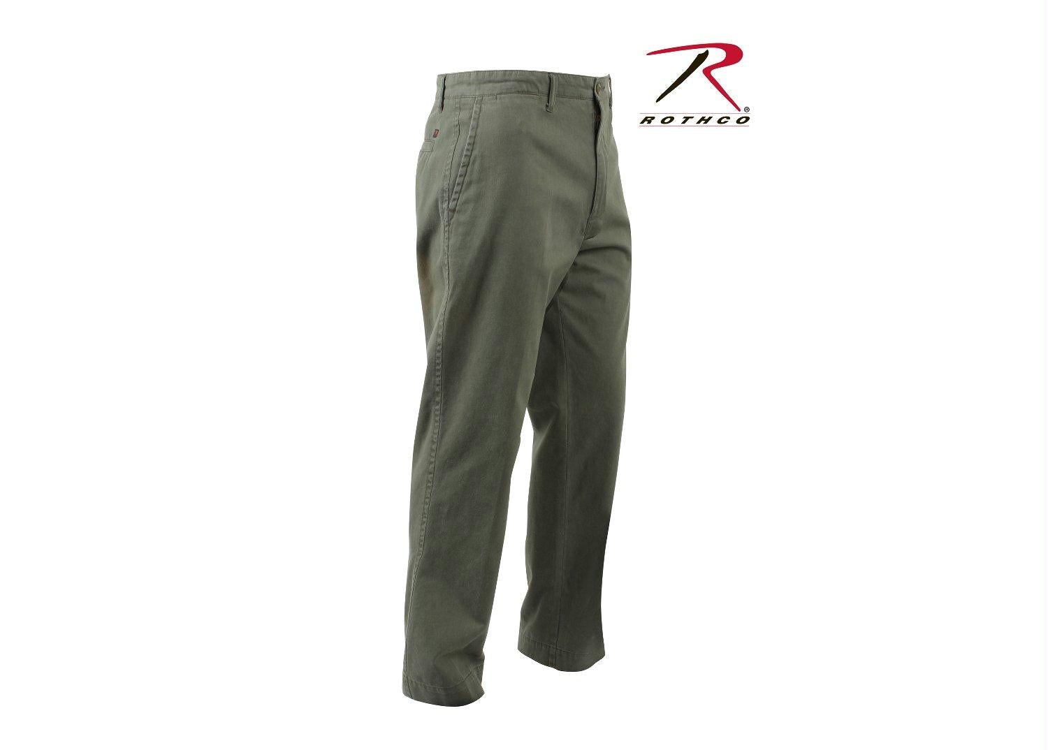 Rothco Deluxe 4-Pocket Chinos - Olive Drab / 30