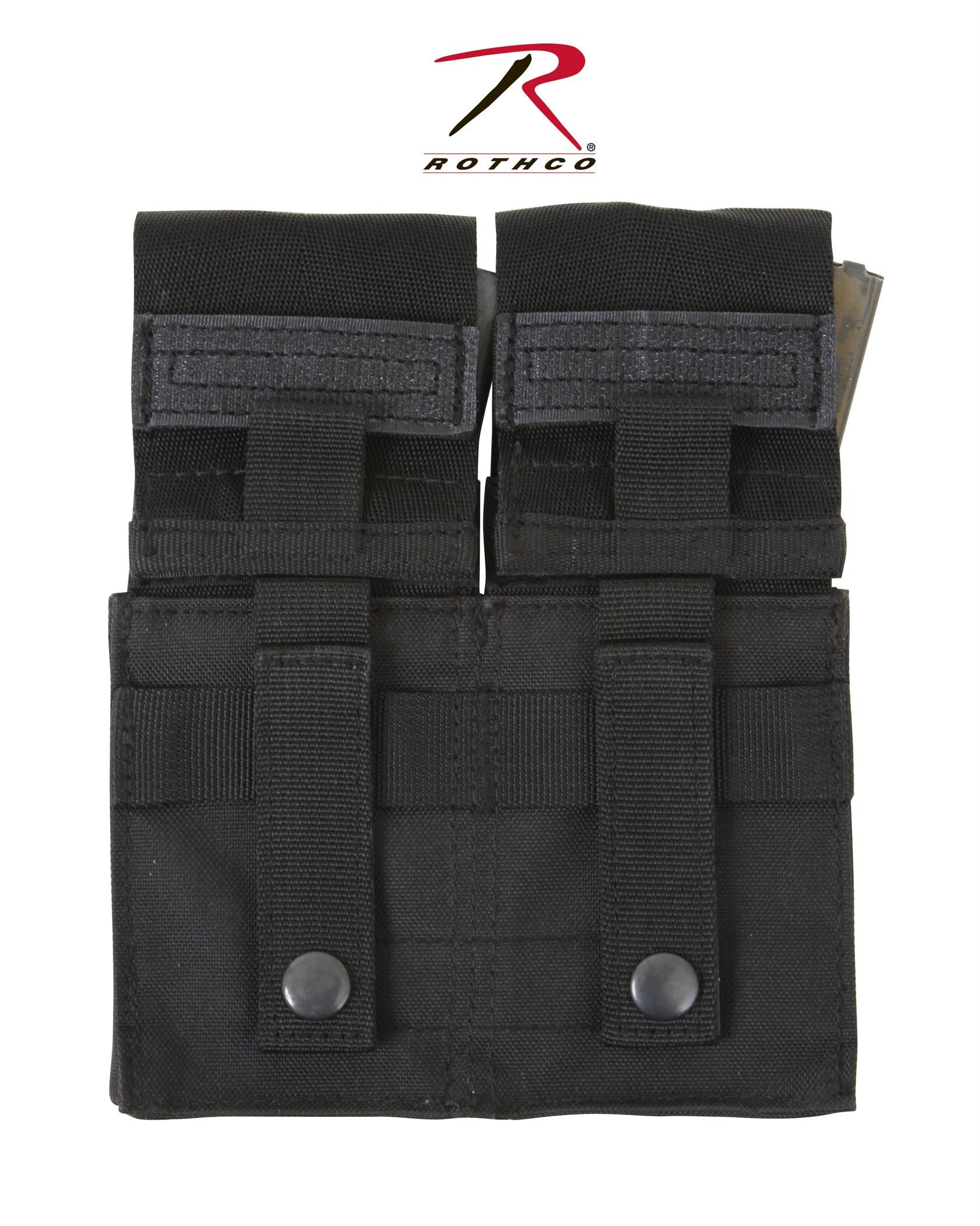 Rothco MOLLE Double M16 Pouch w/ Inserts - Black