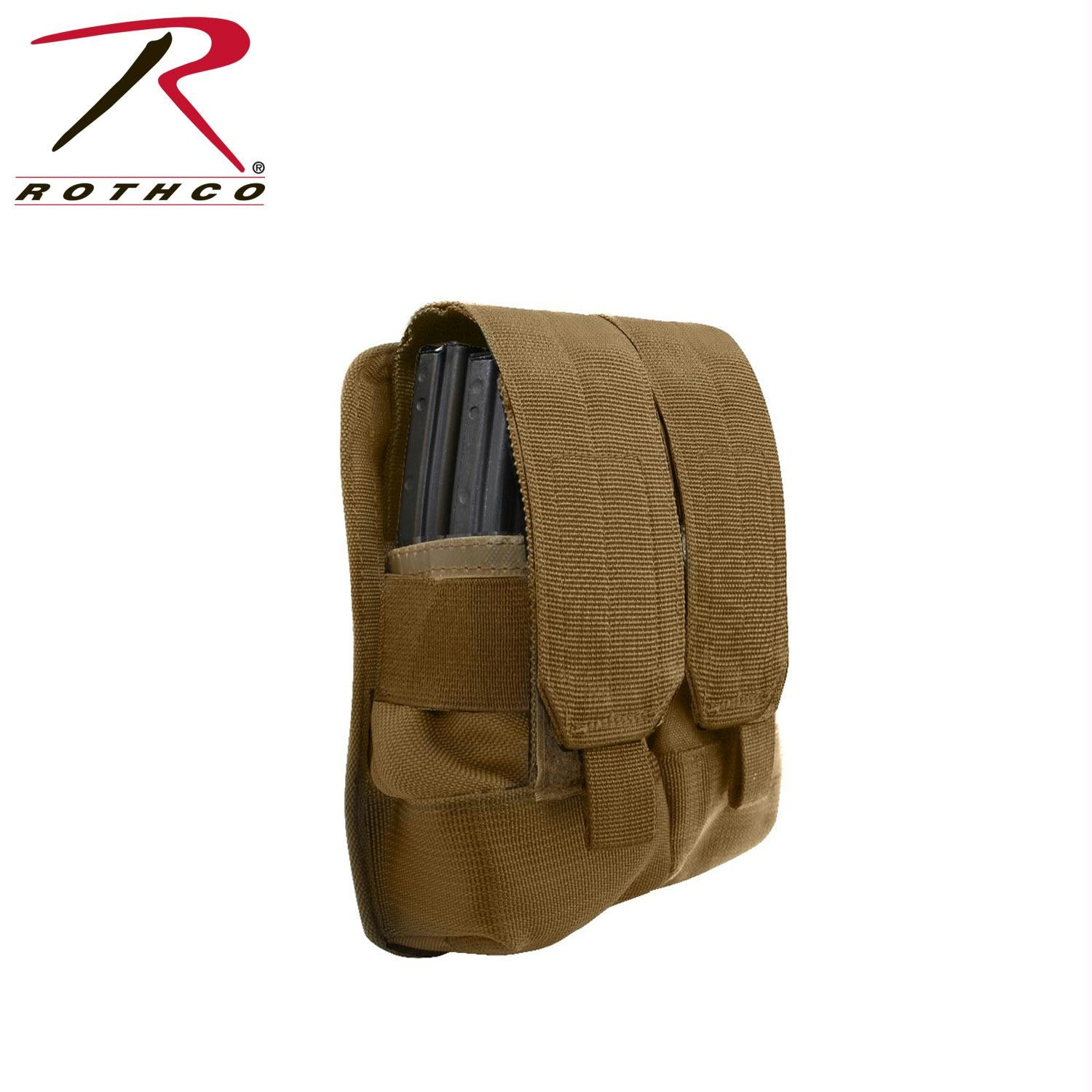 Rothco Universal Double Mag Rifle Pouch - Molle - Coyote Brown