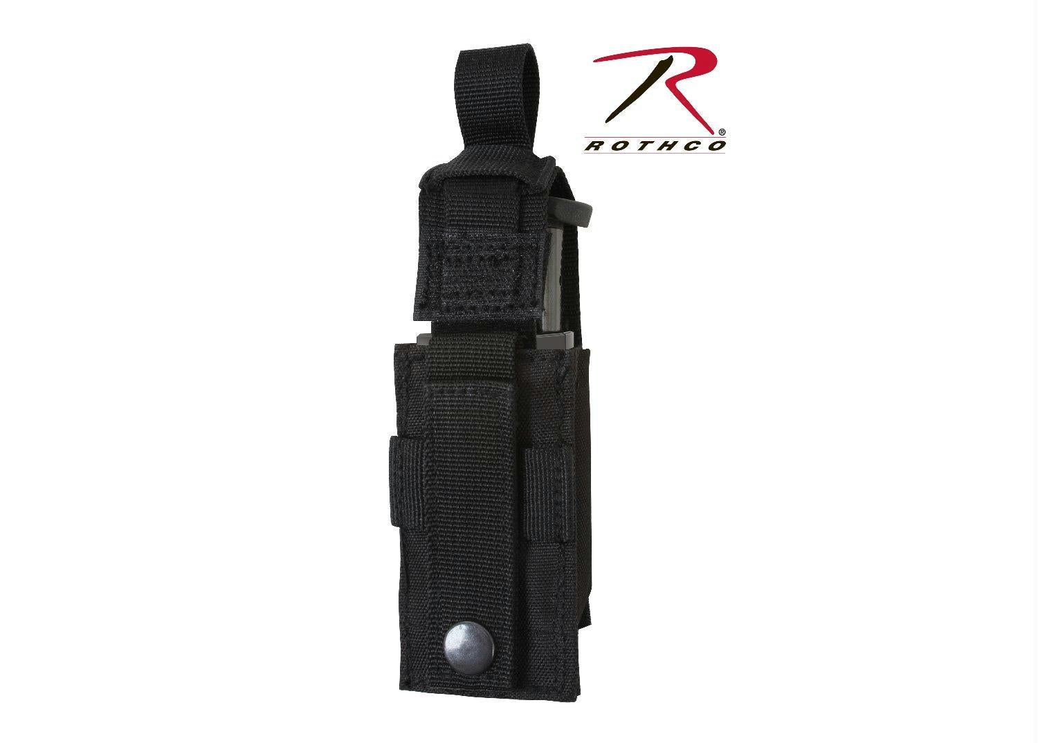 Rothco Single Pistol Mag Pouch With Insert - Molle - Black
