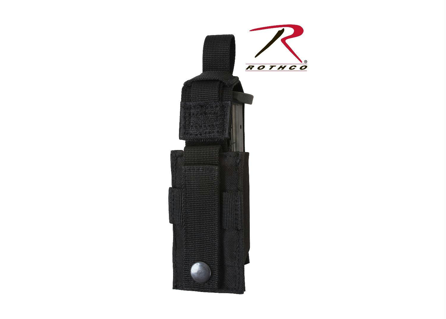 Rothco MOLLE Single Pistol Mag Pouch - Black