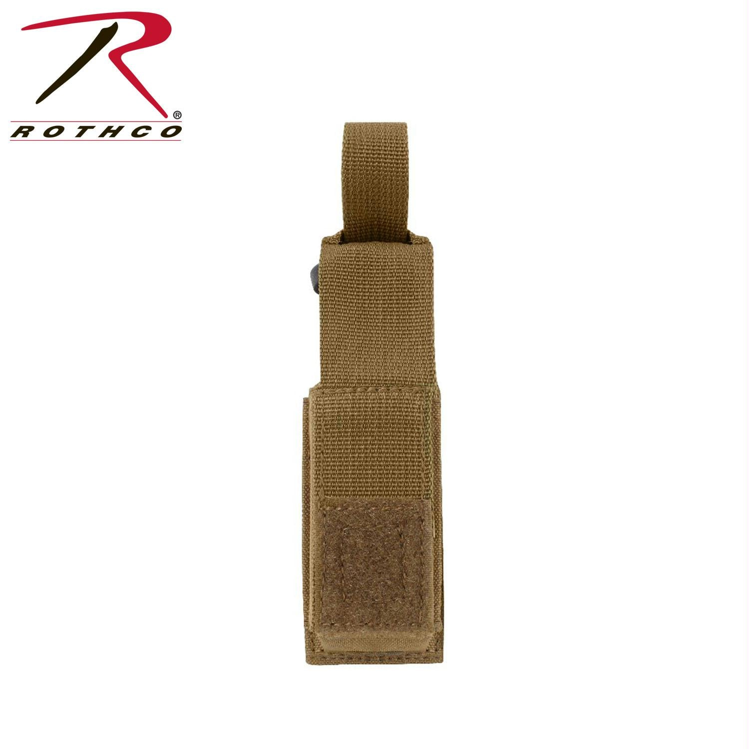 Rothco MOLLE Single Pistol Mag Pouch - Coyote Brown