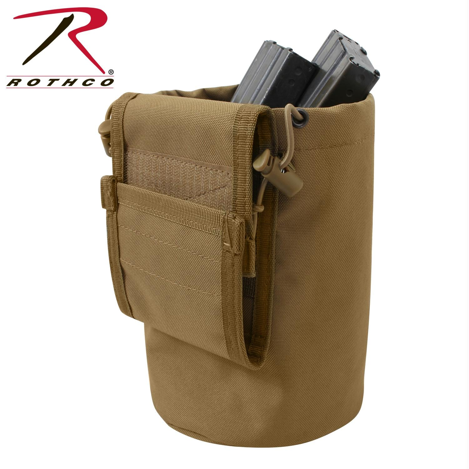 Rothco MOLLE Roll-Up Utility Dump Pouch - Coyote Brown