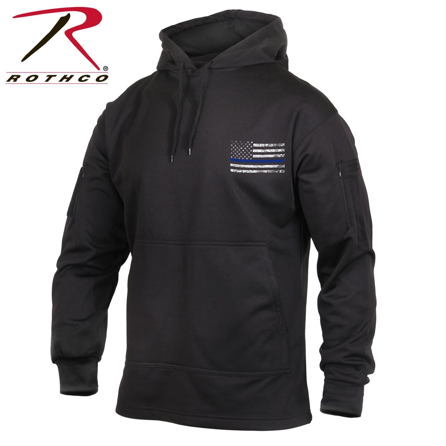 Rothco Thin Blue Line Concealed Carry Hoodie - Black / 4XL