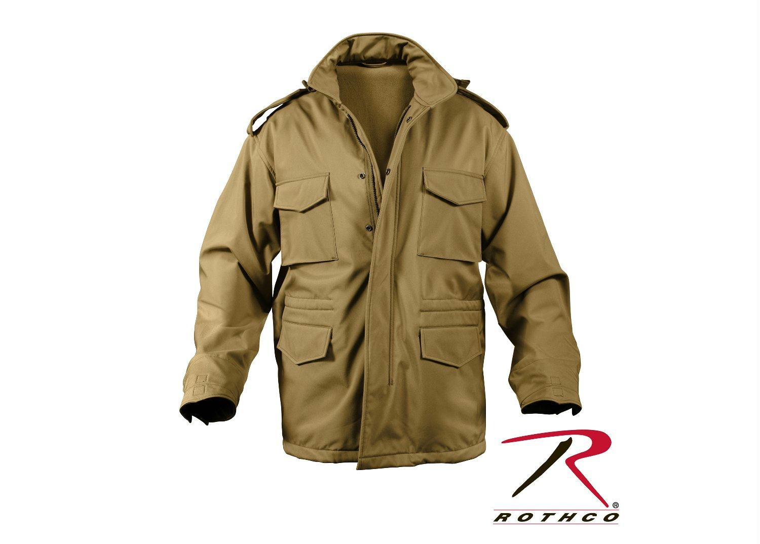 Rothco Soft Shell Tactical M-65 Field Jacket - Coyote Brown / S