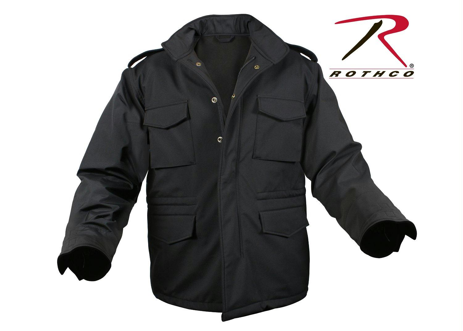 Rothco Soft Shell Tactical M-65 Field Jacket - Black / S