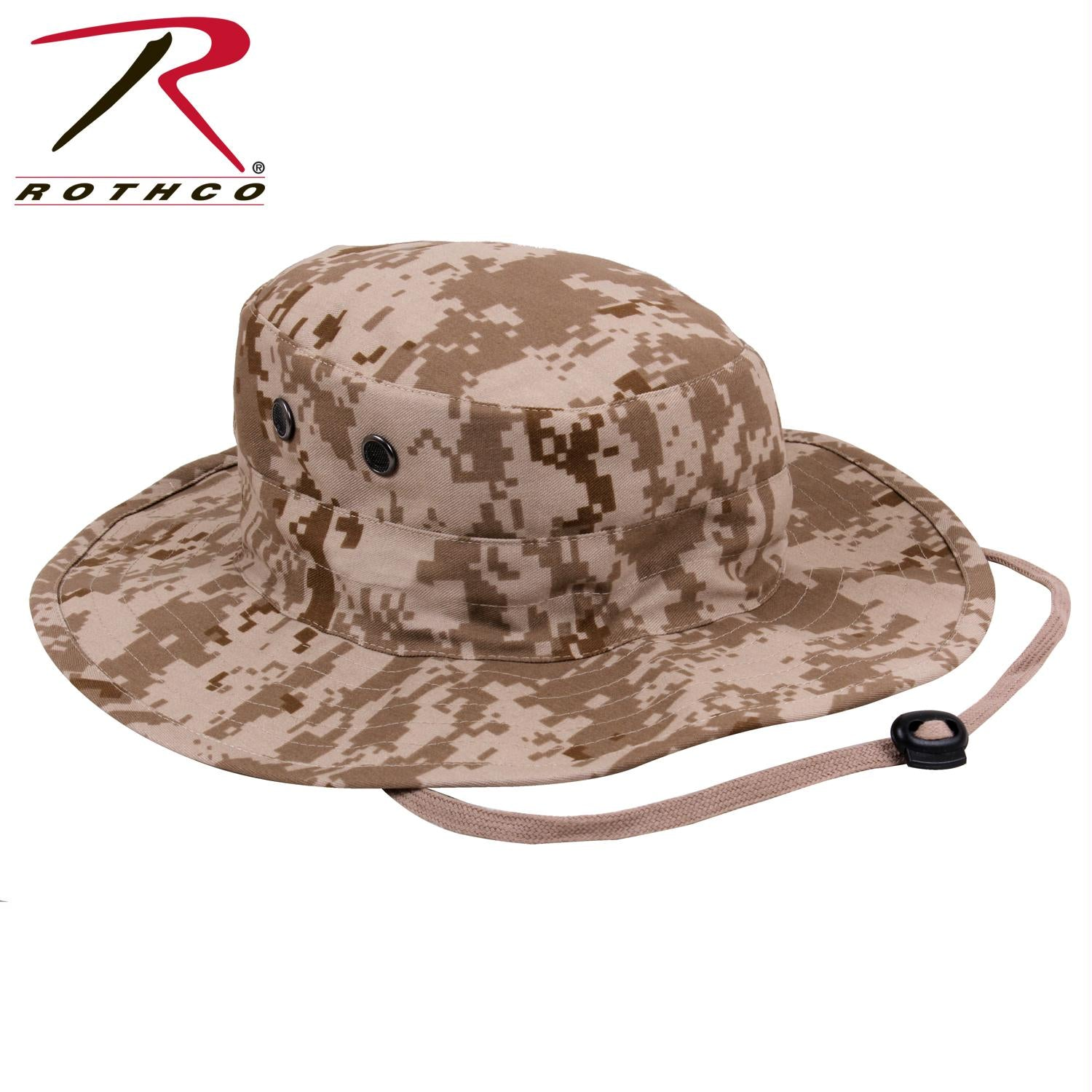 Rothco Adjustable Boonie Hat - Desert Digital Camo / One Size