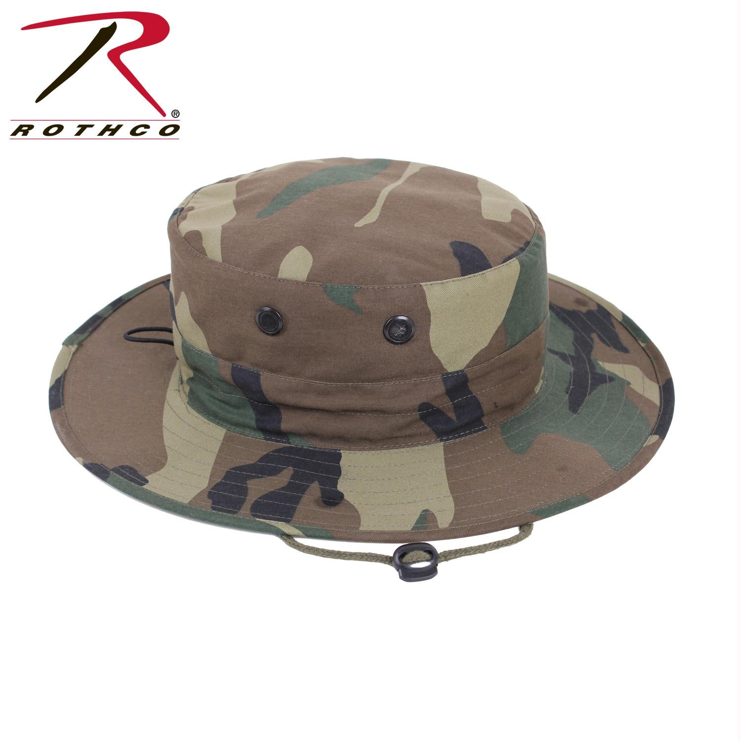 Rothco Adjustable Boonie Hat - Woodland Camo / One Size