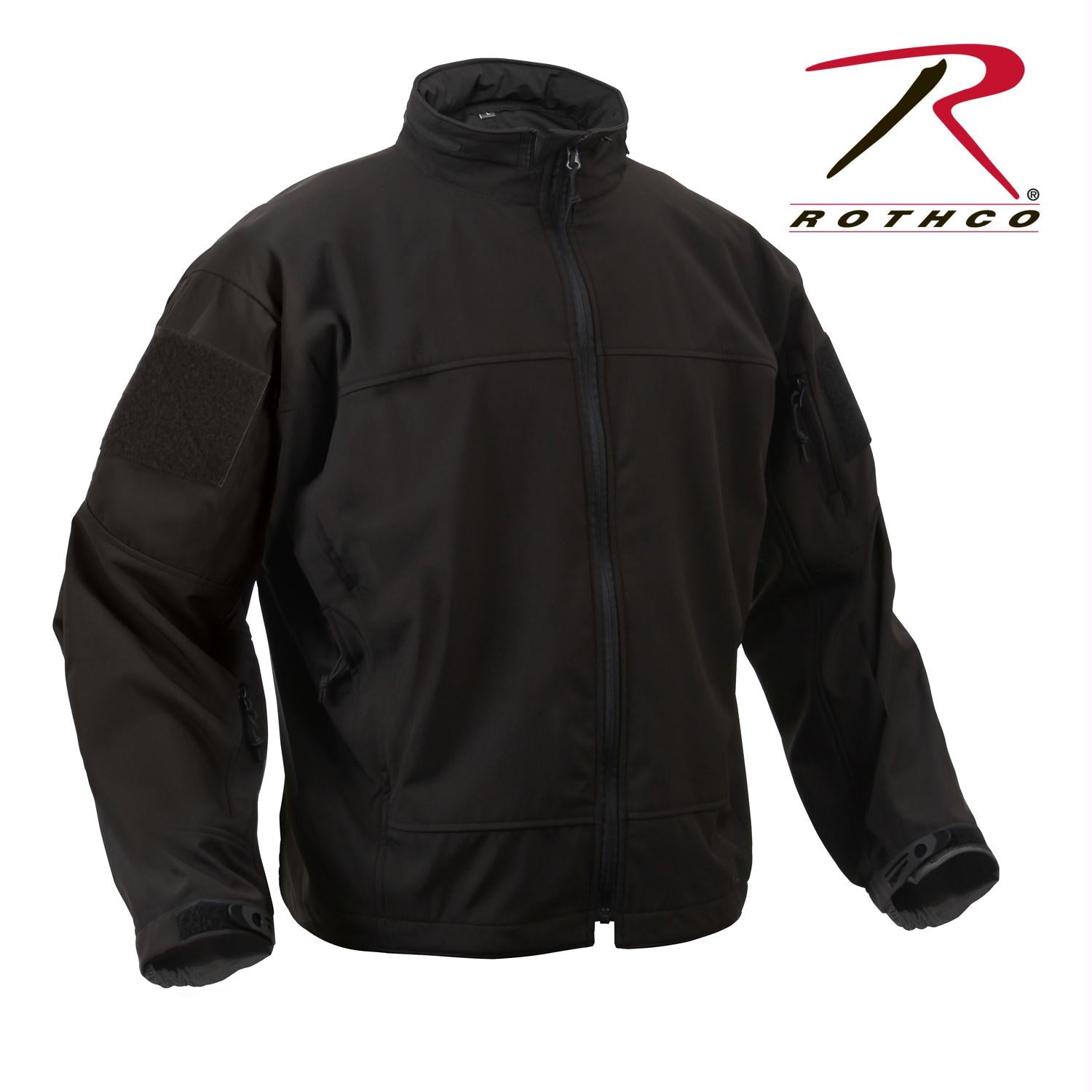 Rothco Covert Ops Light Weight Soft Shell Jacket - Black / 2XL