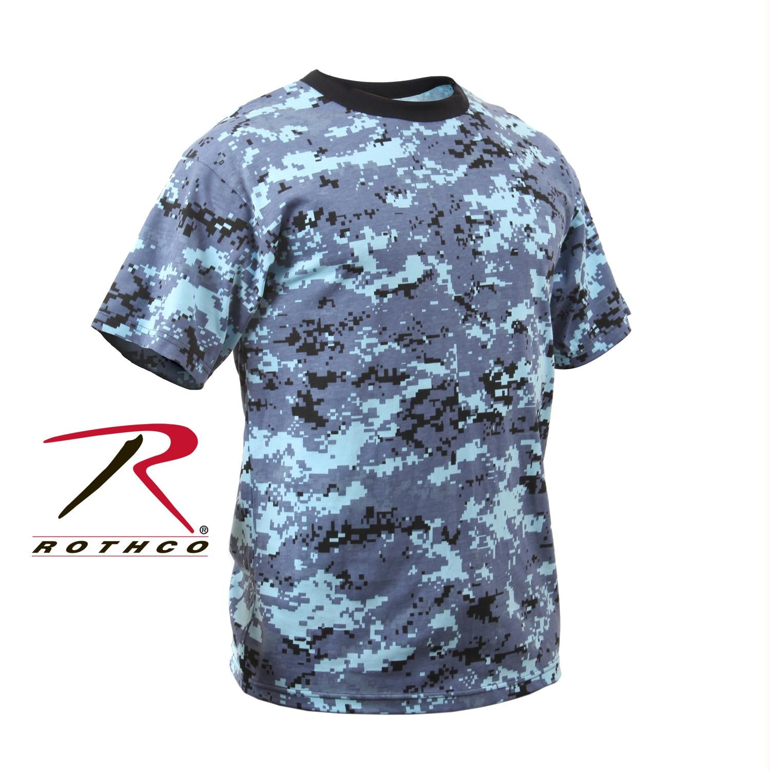 Rothco Kids Digital Camo T-Shirt - Sky Blue Digital Camo / S