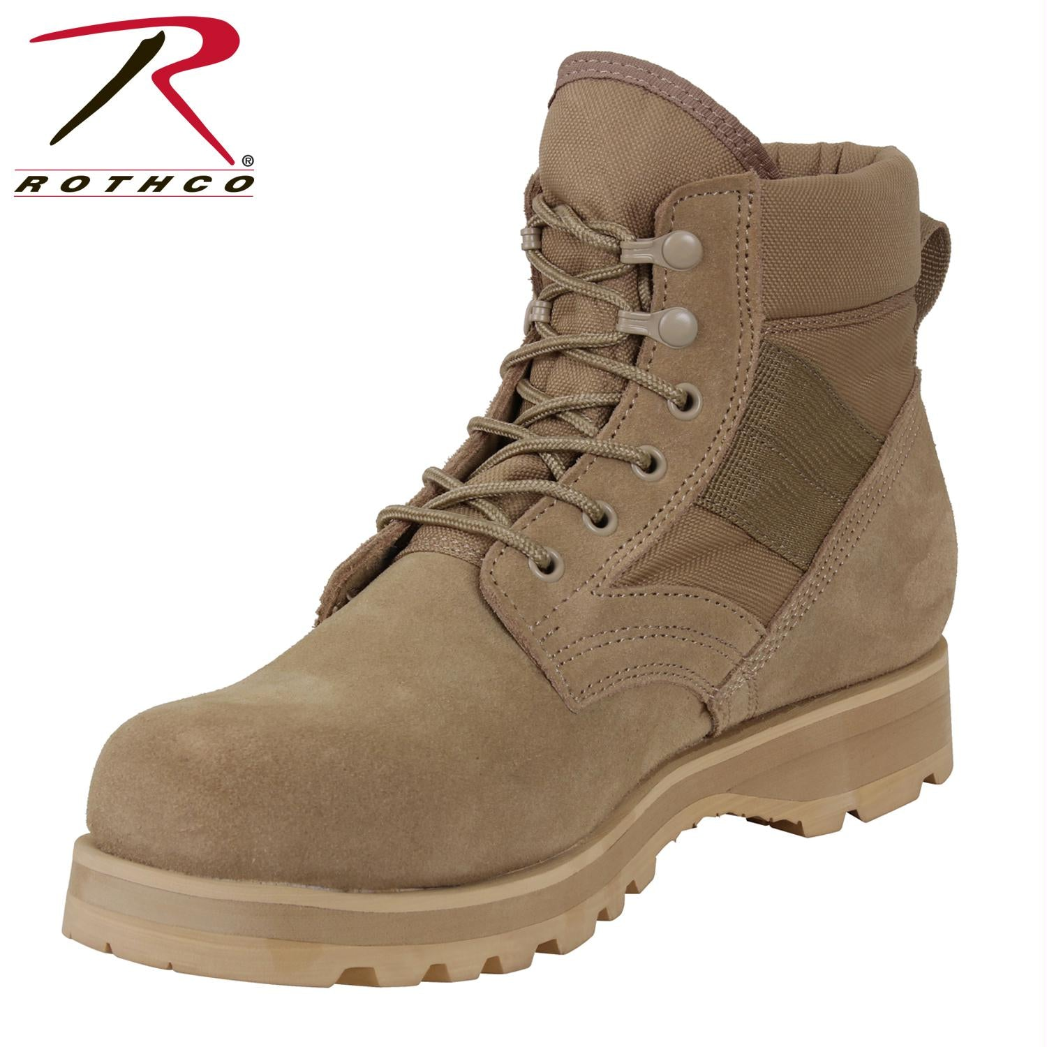 Rothco Military Combat Work Boot - Desert Tan / 5