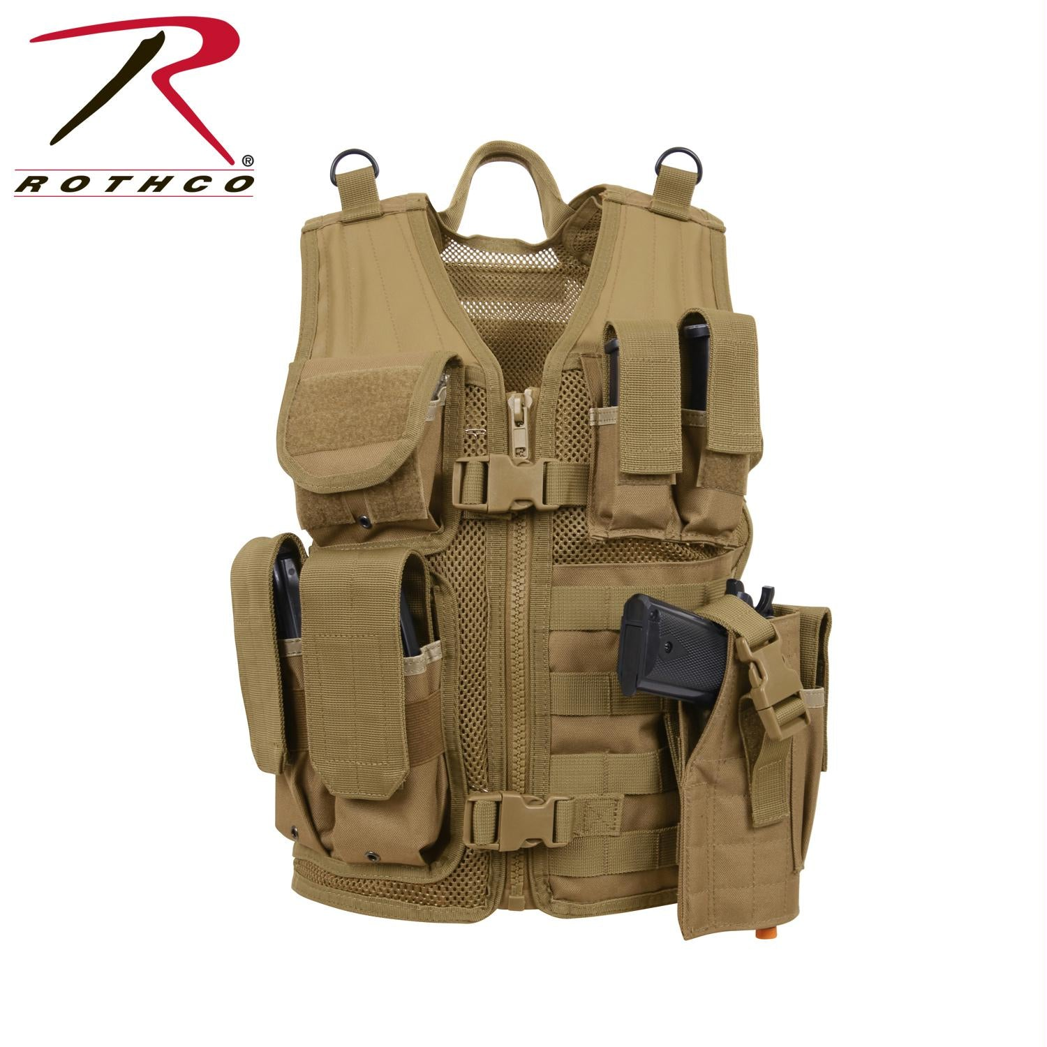 Rothco Kid's Tactical Cross Draw Vest - Coyote Brown
