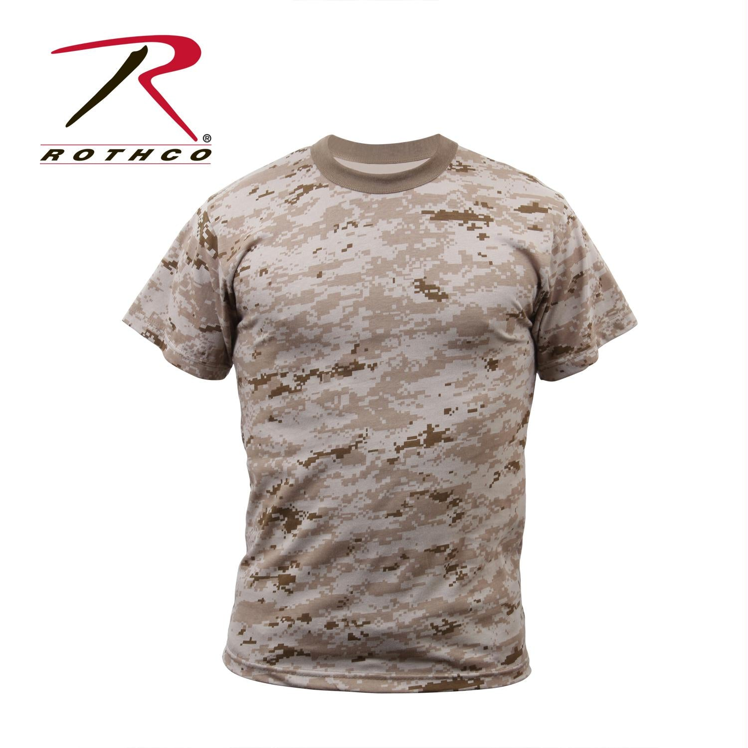 Rothco Digital Camo T-Shirt - Desert Digital Camo / M