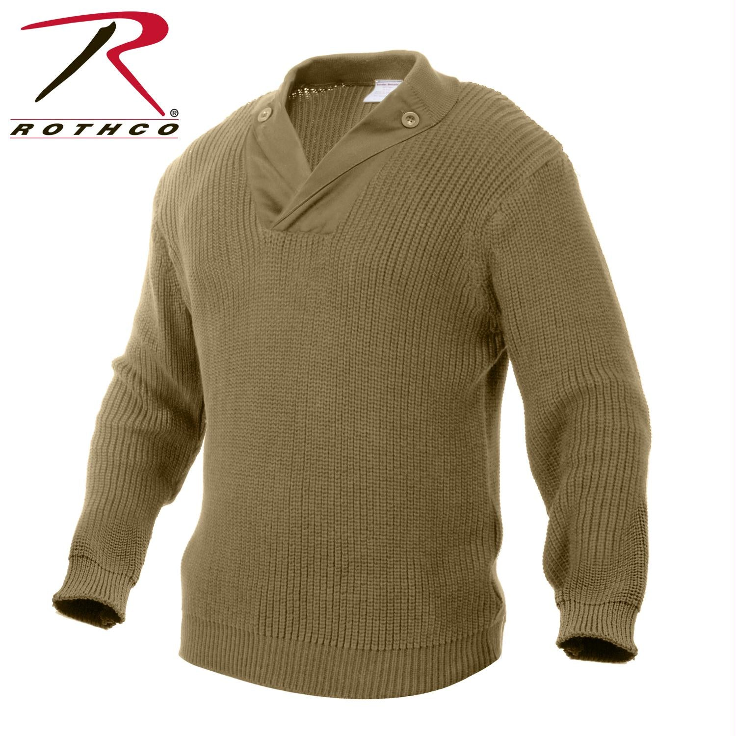 Rothco WWII Vintage Mechanics Sweater - Khaki / 3XL