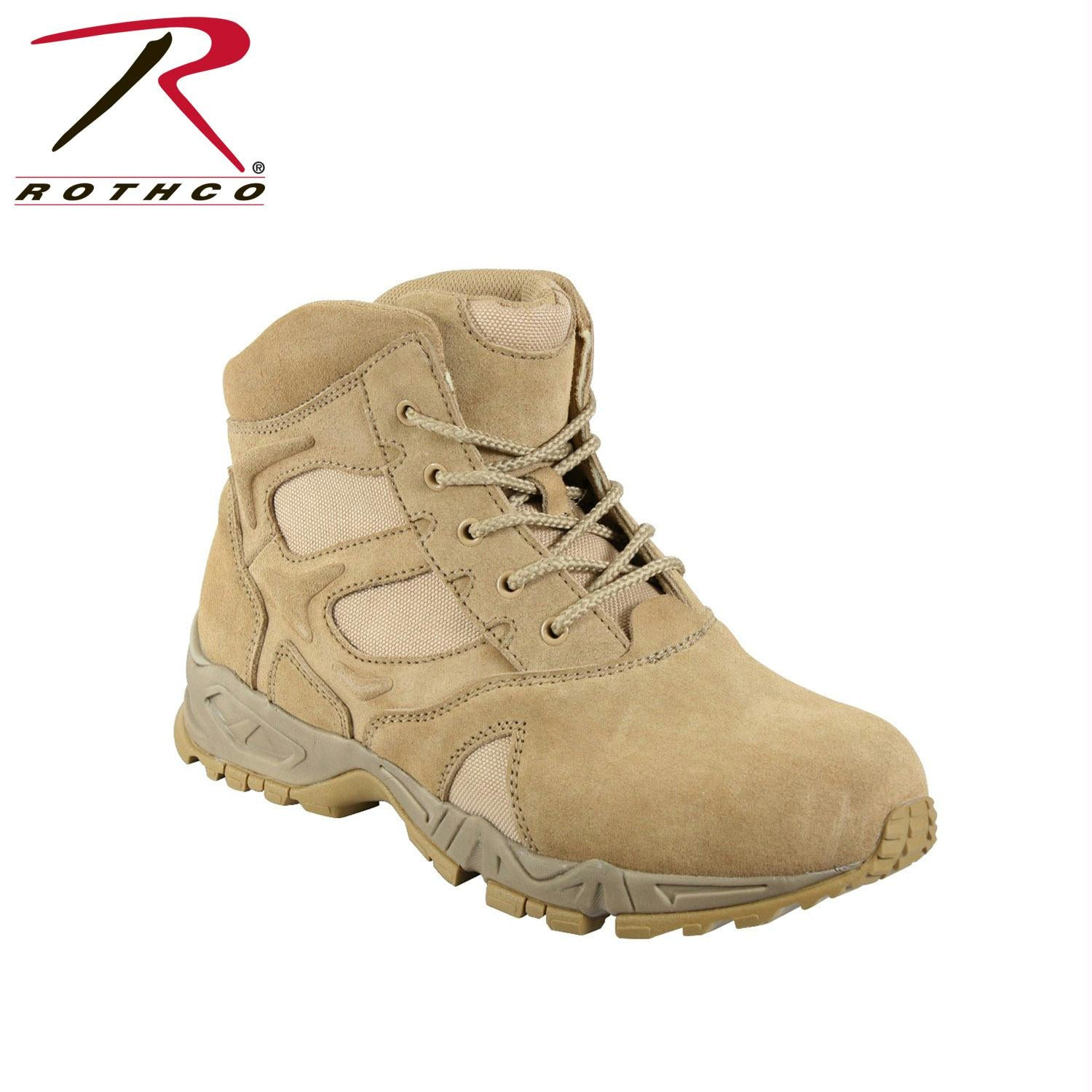 Rothco 6 Inch Forced Entry Desert Tan Deployment Boot - 12 / Wide