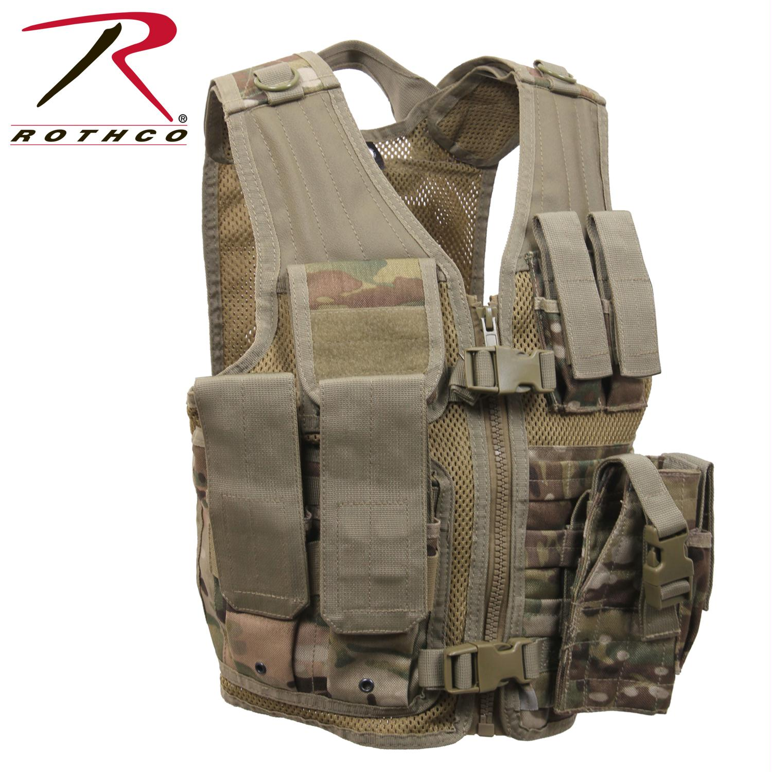 Rothco Kid's Tactical Cross Draw Vest - MultiCam