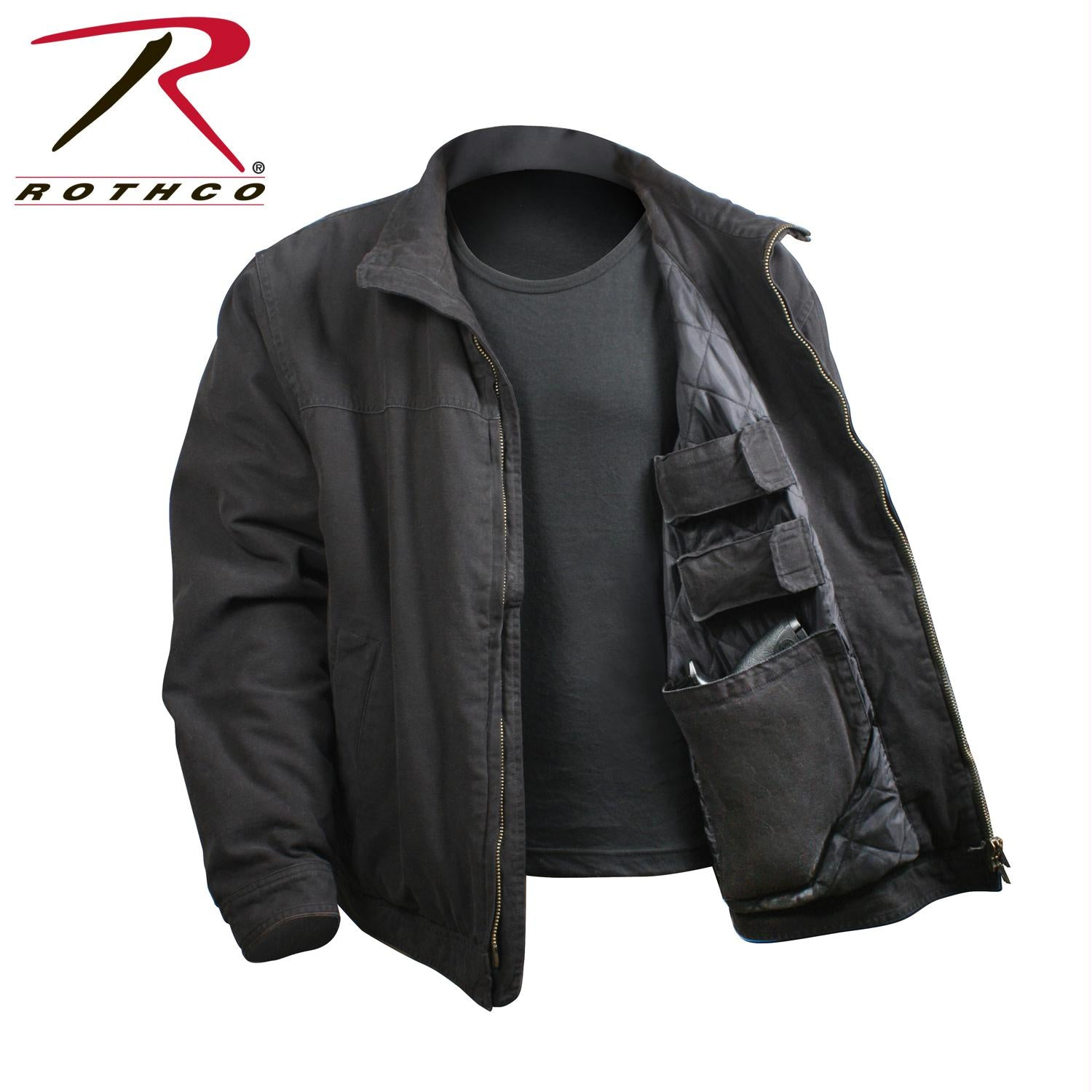 Rothco 3 Season Concealed Carry Jacket - Black / 5XL