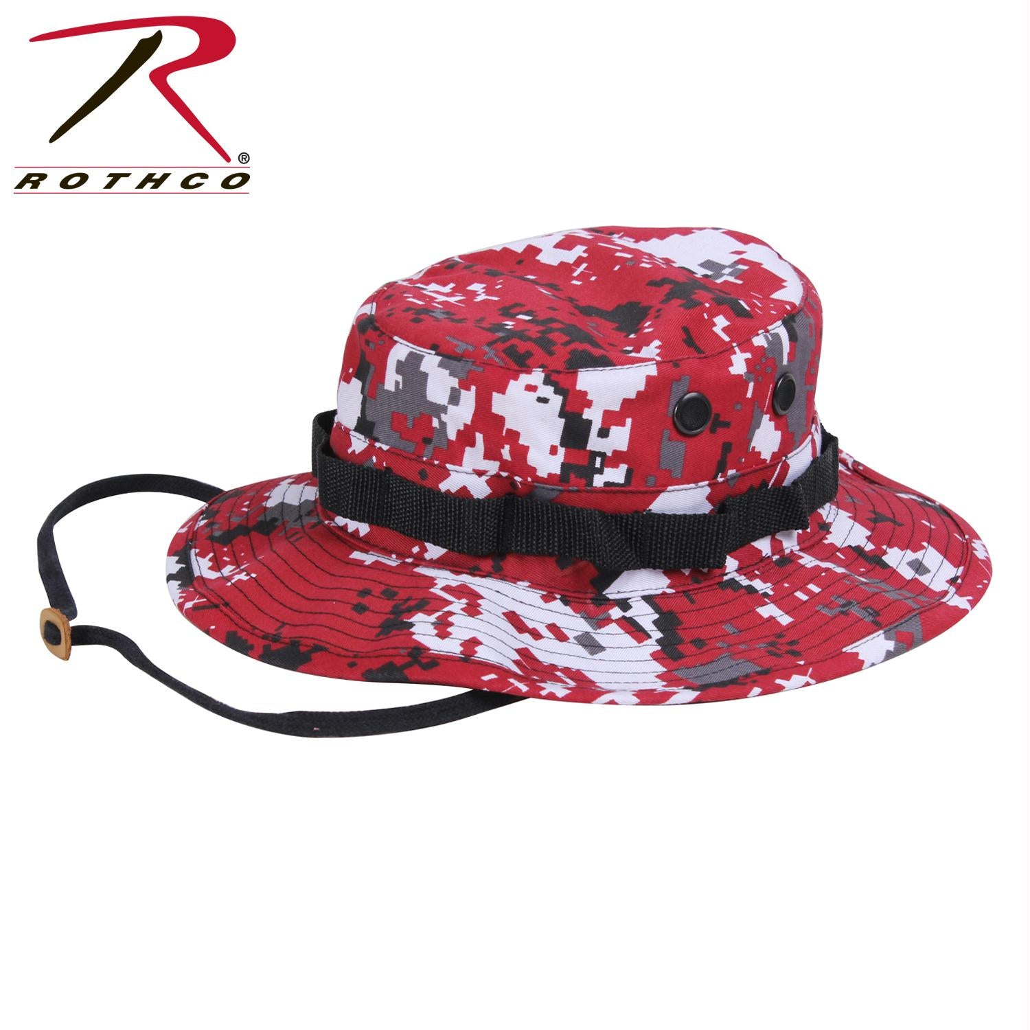 Rothco Digital Camo Boonie Hat - Red Digital Camo / 7 1/4