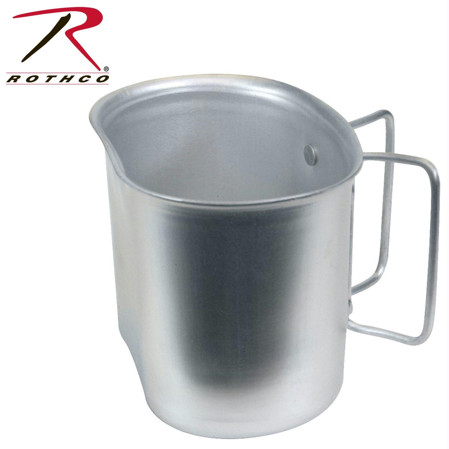 Rothco Gi Style Aluminum Canteen Cup - Silver