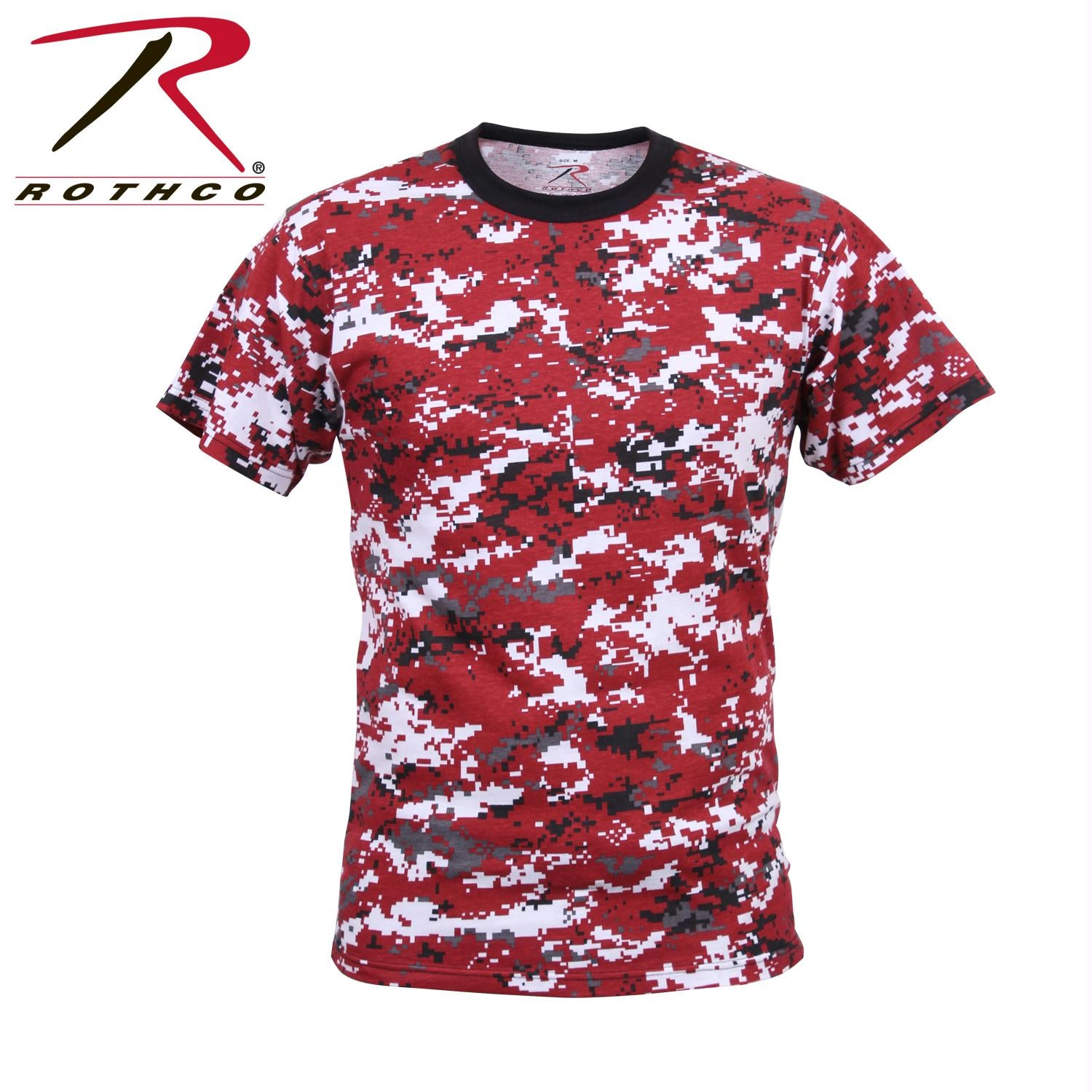 Rothco Digital Camo T-Shirt - Red Digital Camo / L