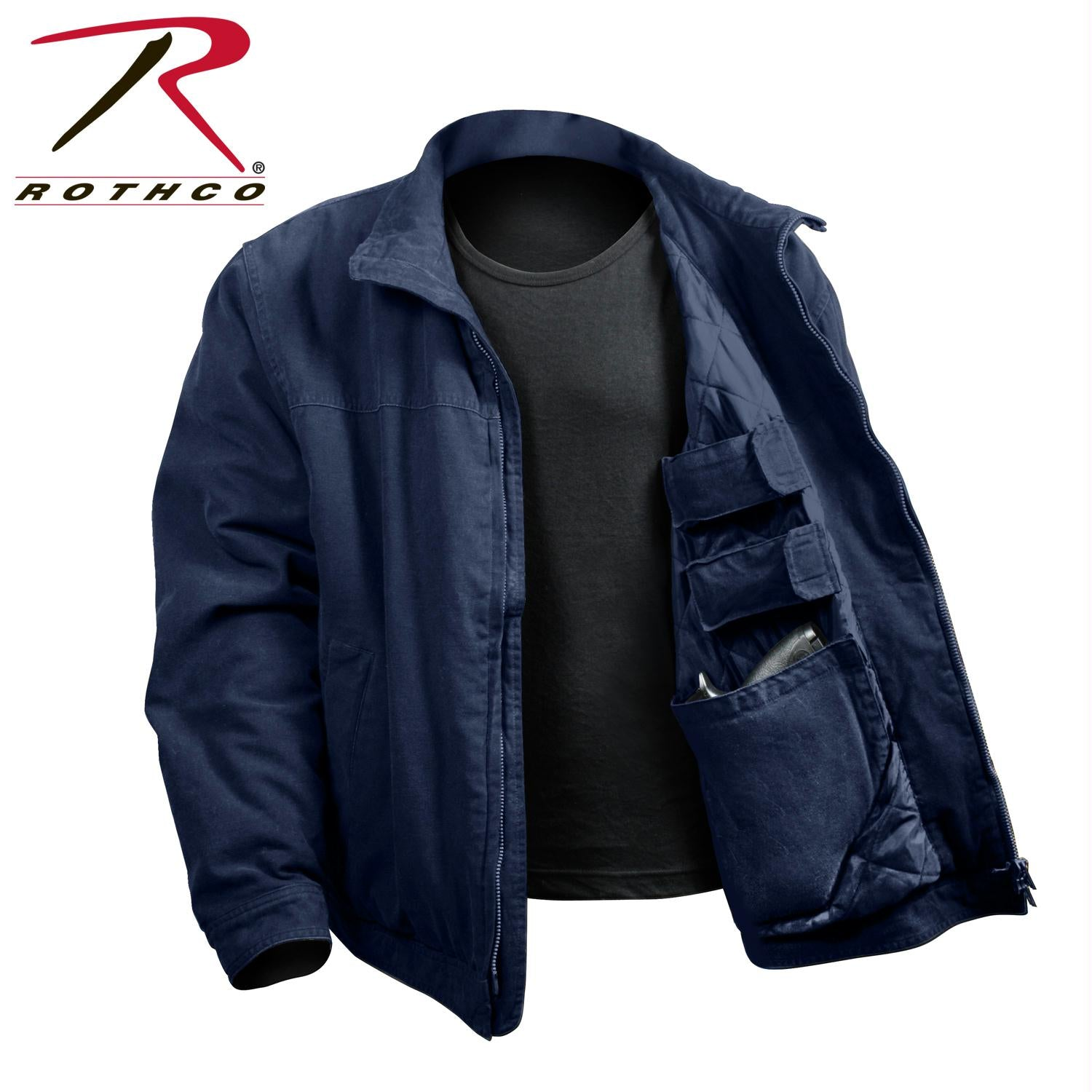 Rothco 3 Season Concealed Carry Jacket - Navy Blue / L
