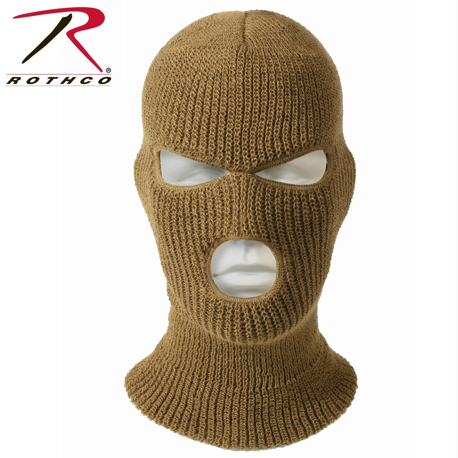 Rothco 3 Hole Face Mask - Coyote Brown