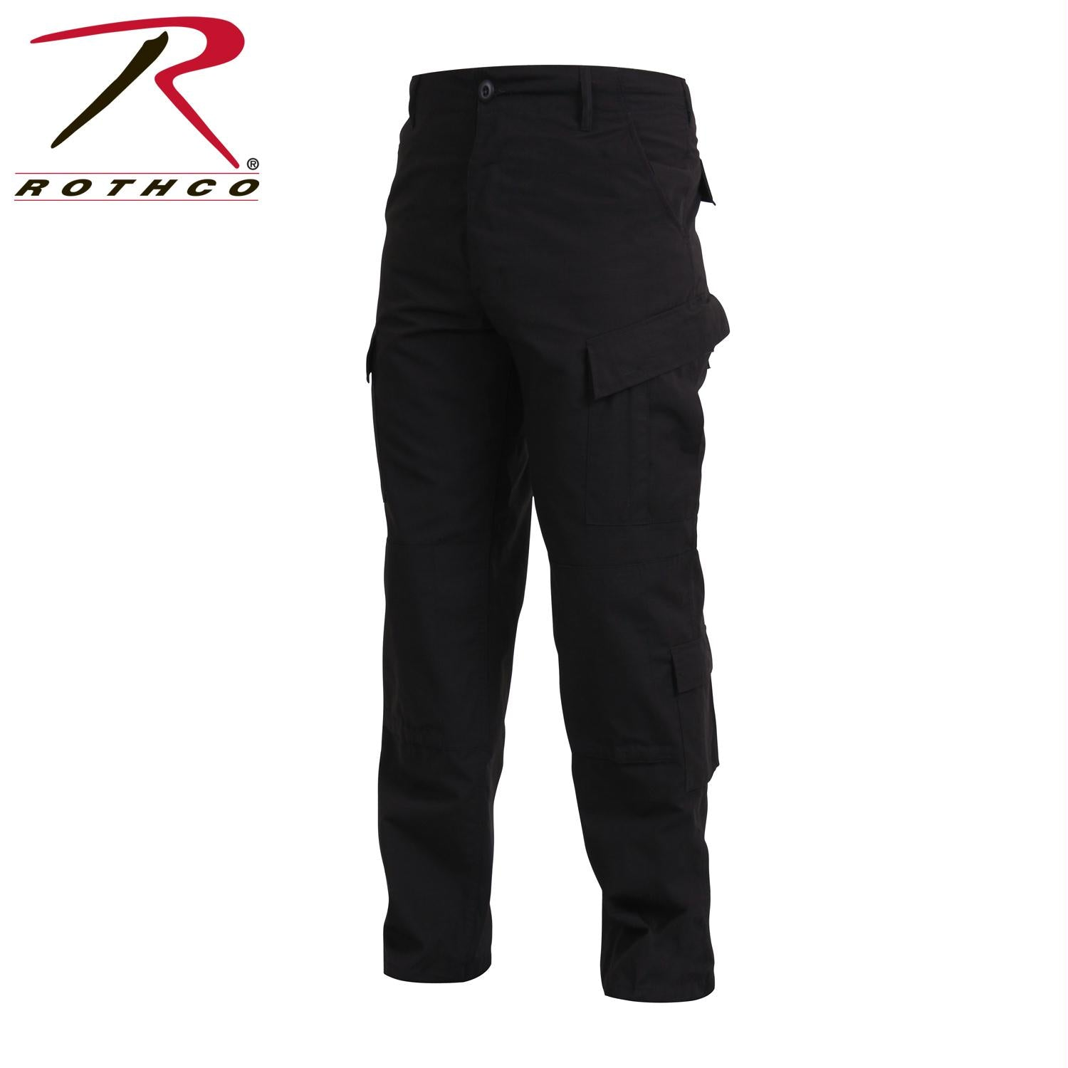 Tactical ACU Pants Rip-Stop Army Combat Uniform Fatigues - Black / S