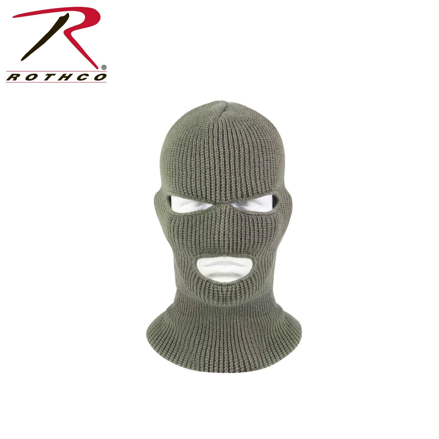 Rothco 3 Hole Face Mask - Foliage Green