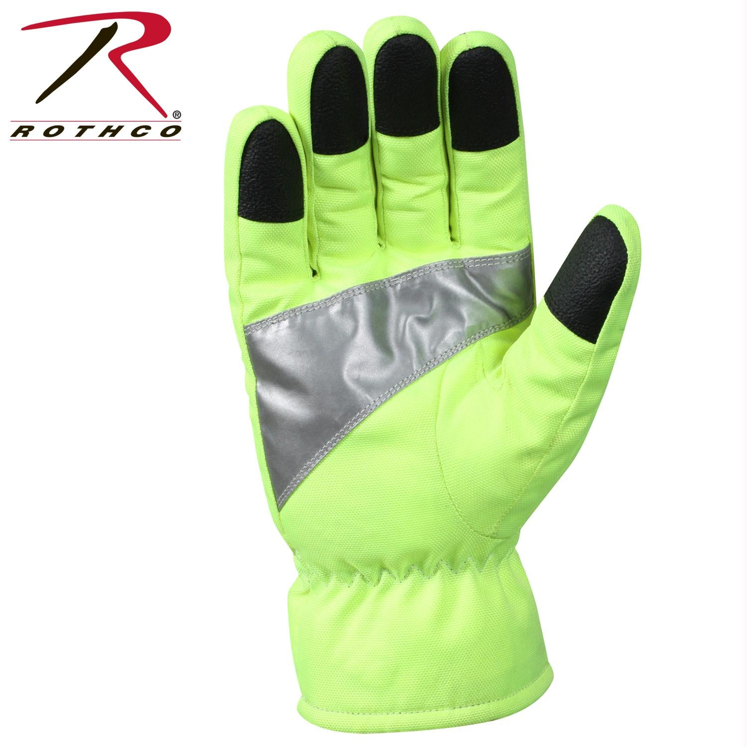 Rothco Safety Green Gloves With Reflective Tape - 2XL