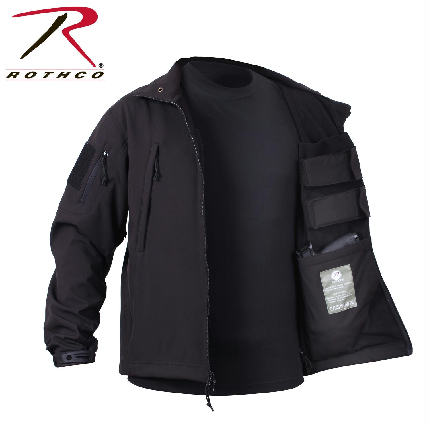 Rothco Concealed Carry Soft Shell Jacket - Black / XL