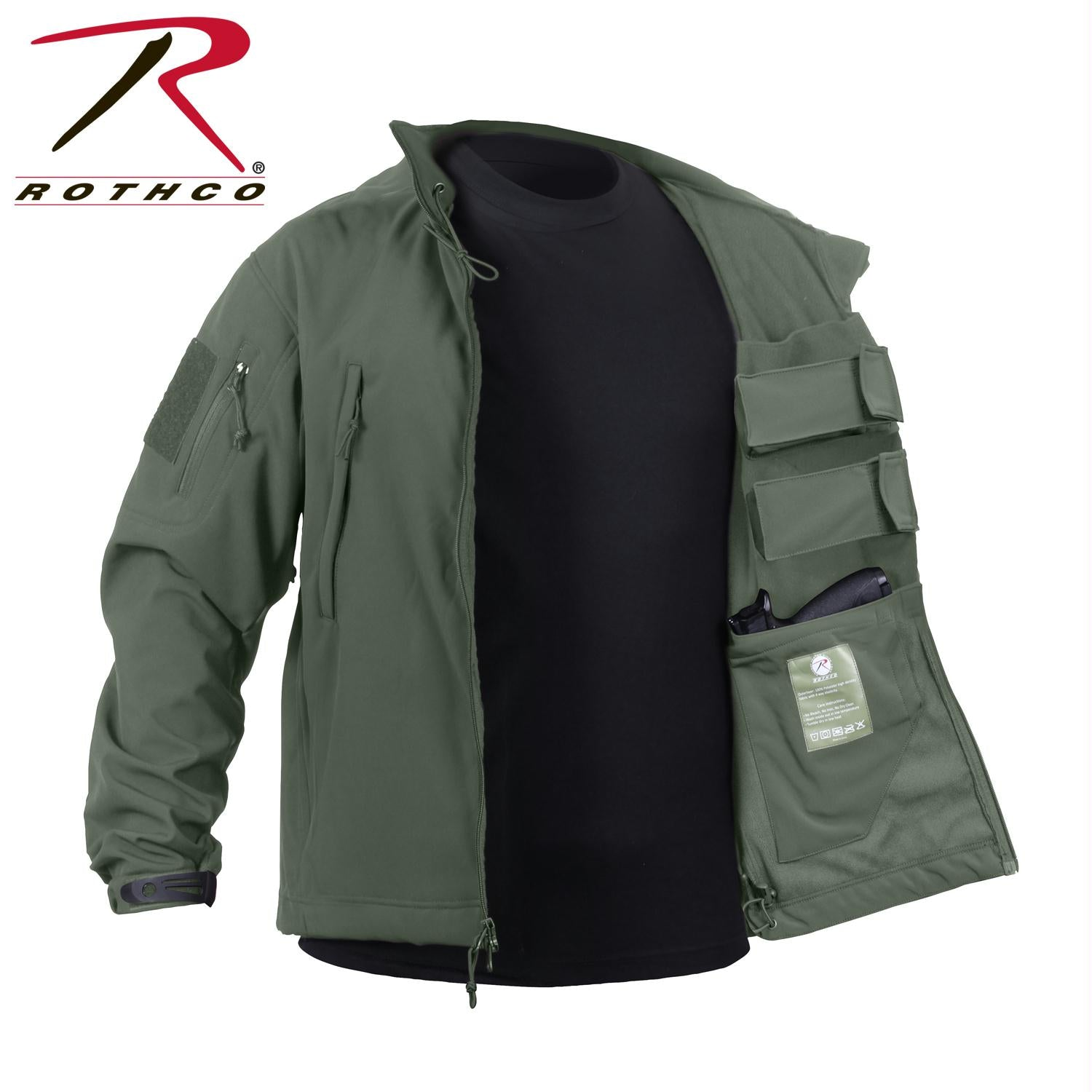 Rothco Concealed Carry Soft Shell Jacket - Olive Drab / XL