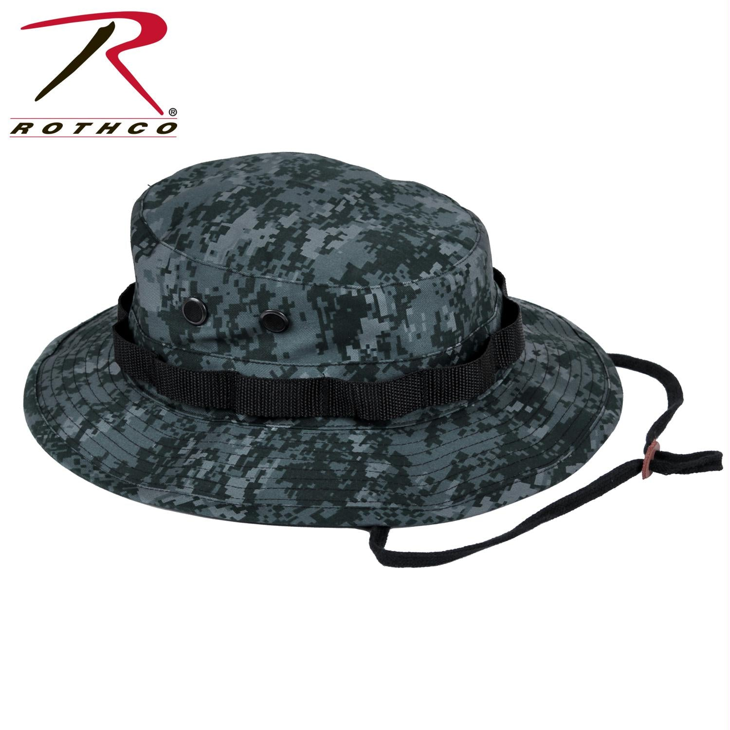 Rothco Digital Camo Boonie Hat - Midnight Digital Camo / 7