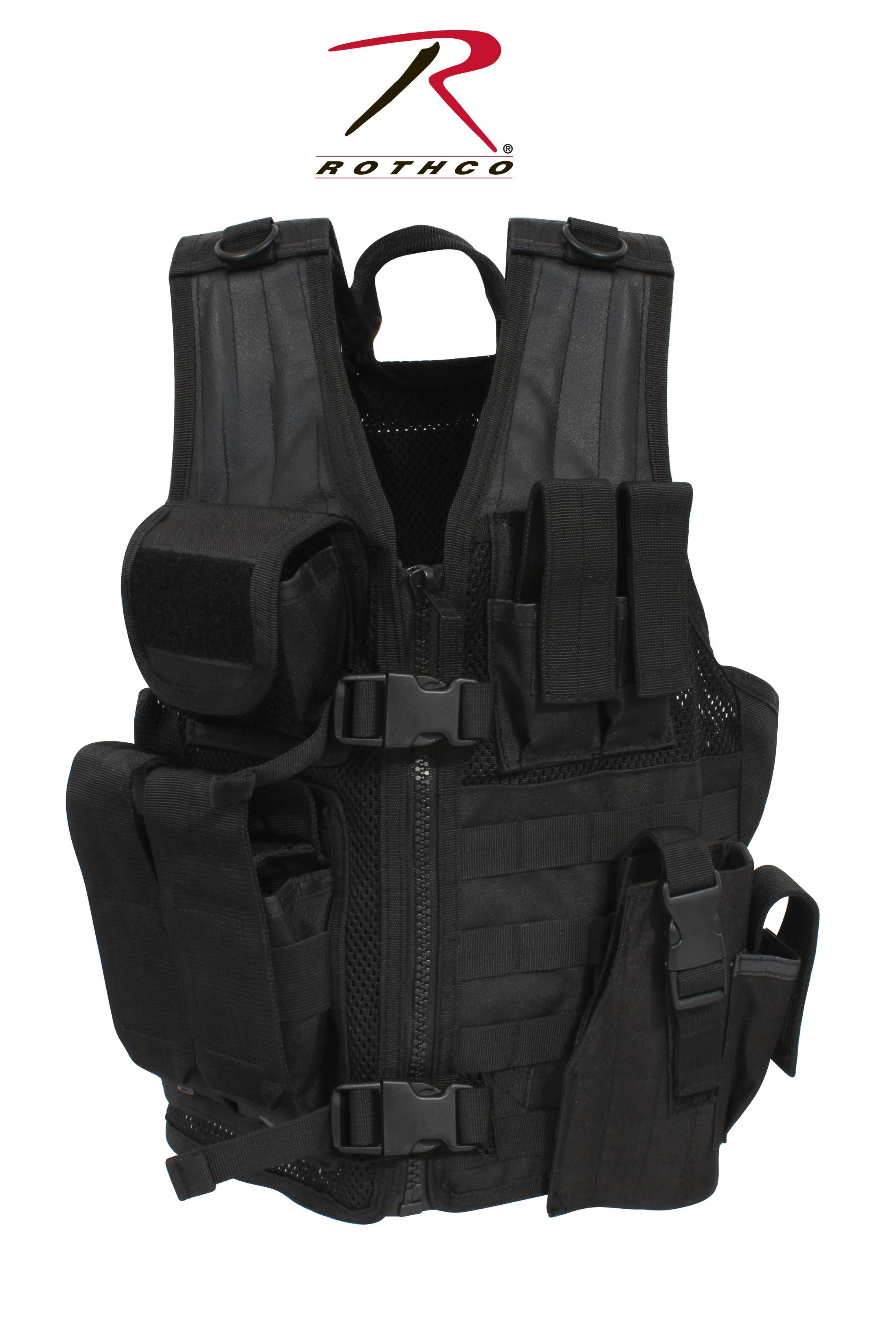 Rothco Kid's Tactical Cross Draw Vest - Black