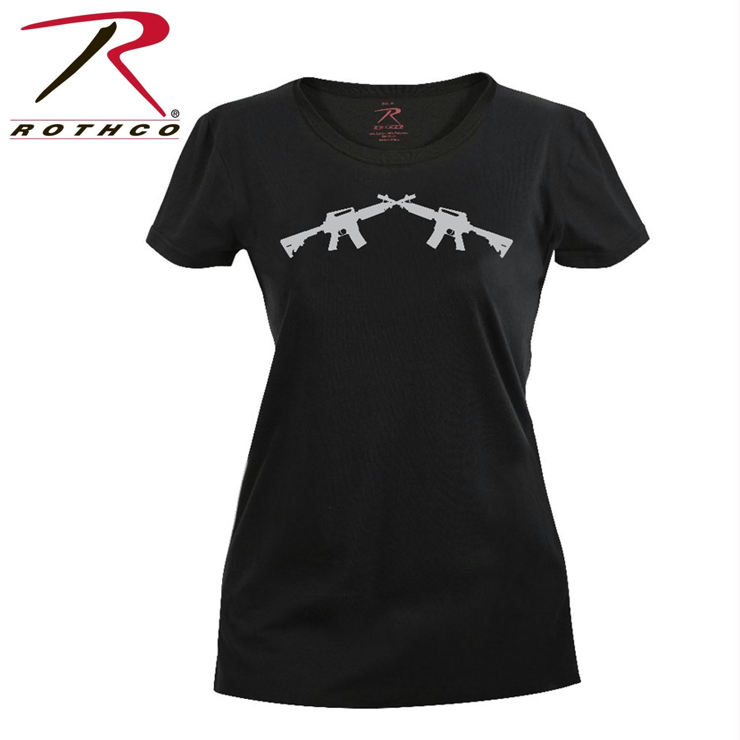 Rothco Women's Crossed Rifle Long Length T-Shirt - S