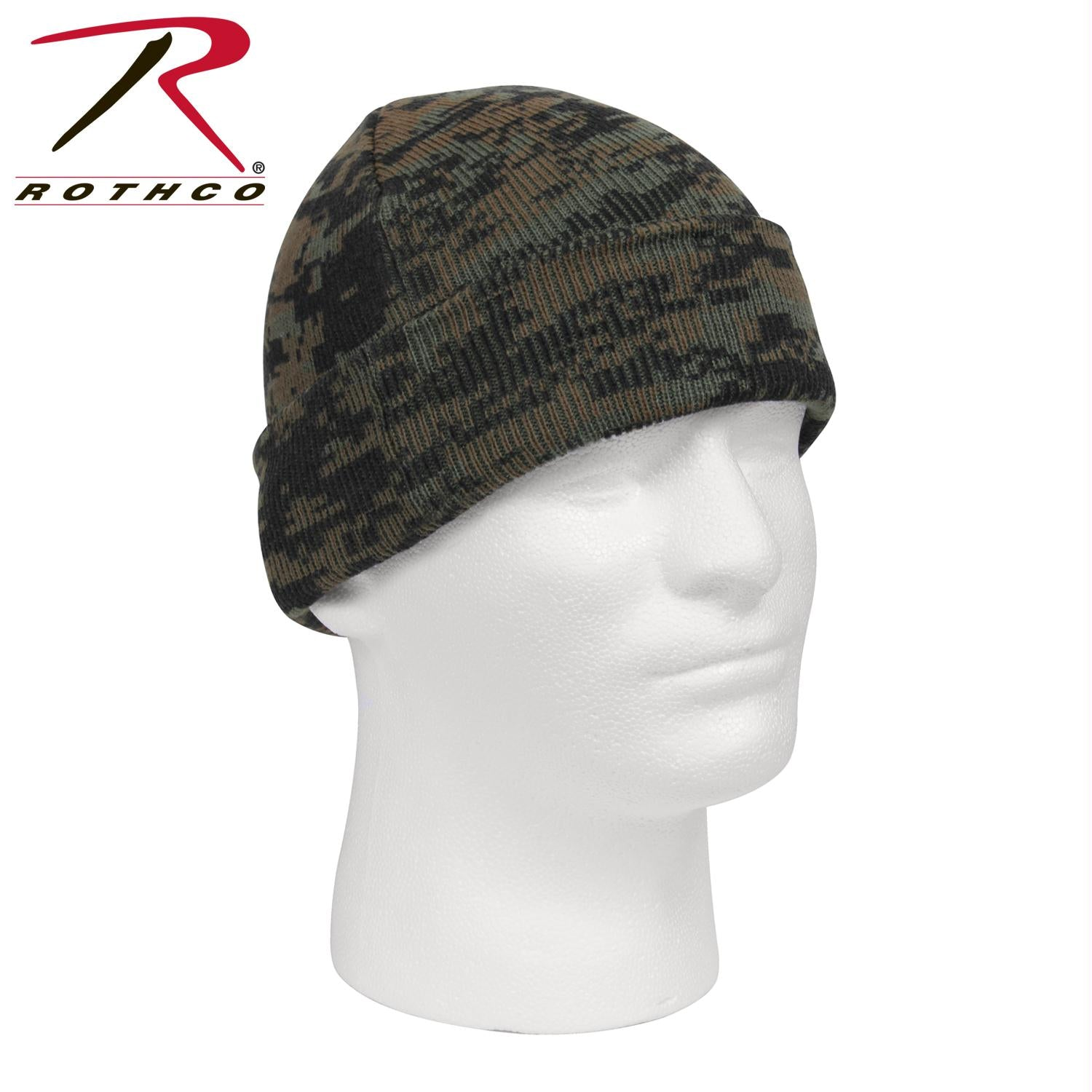 Rothco Deluxe Camo Watch Cap - Woodland Digital Camo