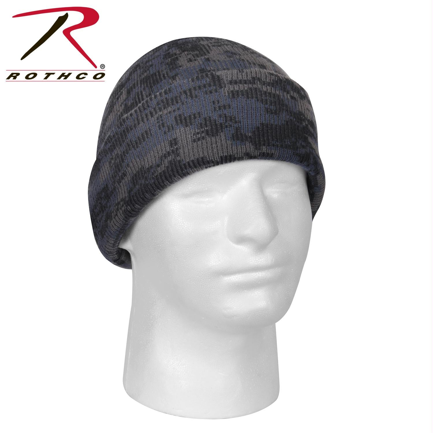 Rothco Deluxe Camo Watch Cap - Midnight Digital Camo