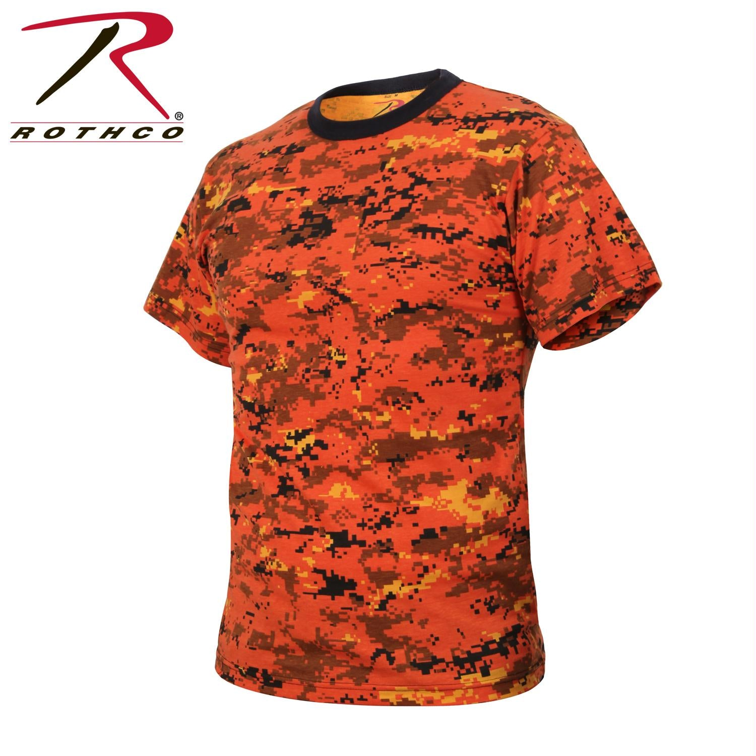 Rothco Digital Camo T-Shirt - Orange Digital Camo / XL