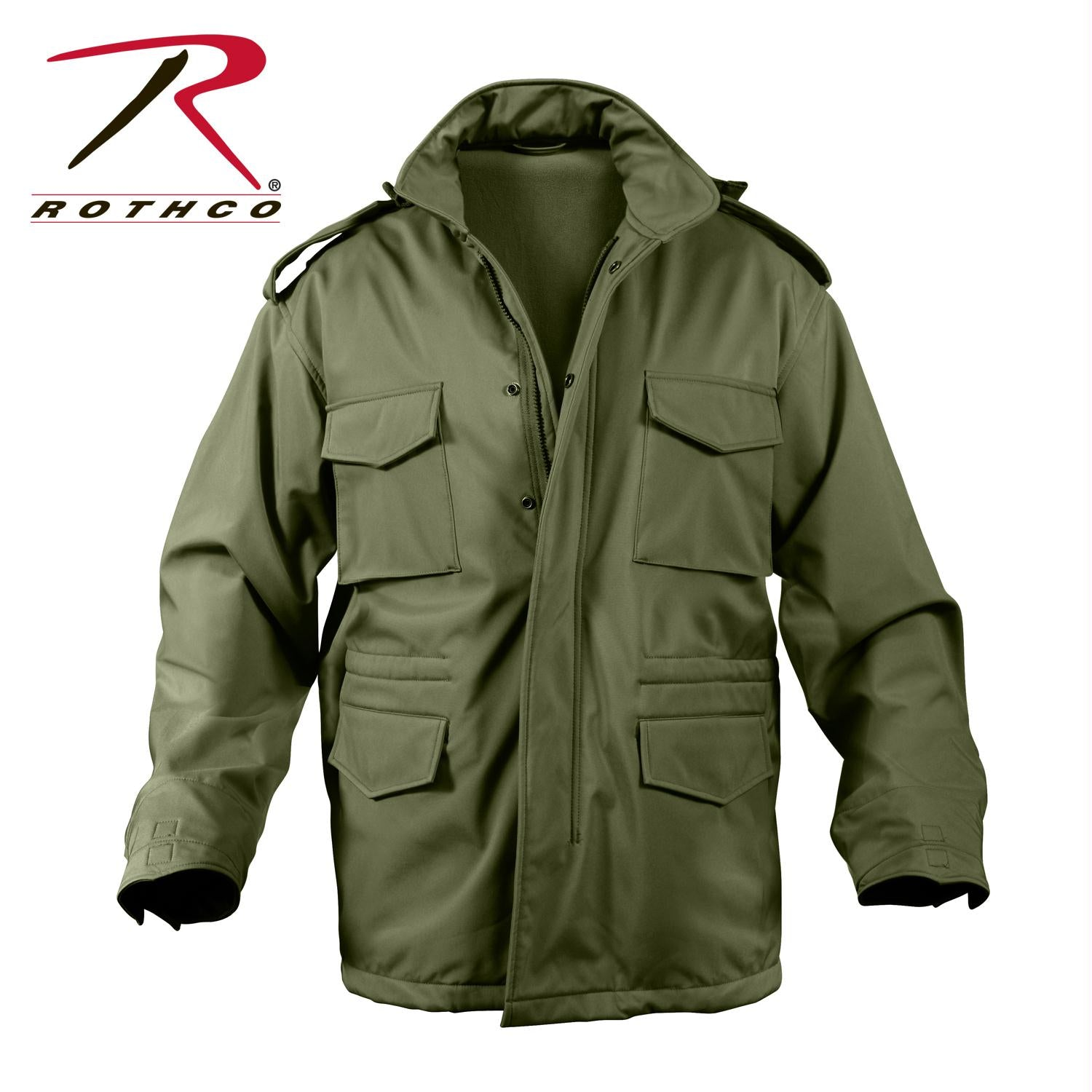 Rothco Soft Shell Tactical M-65 Field Jacket - Olive Drab / 2XL