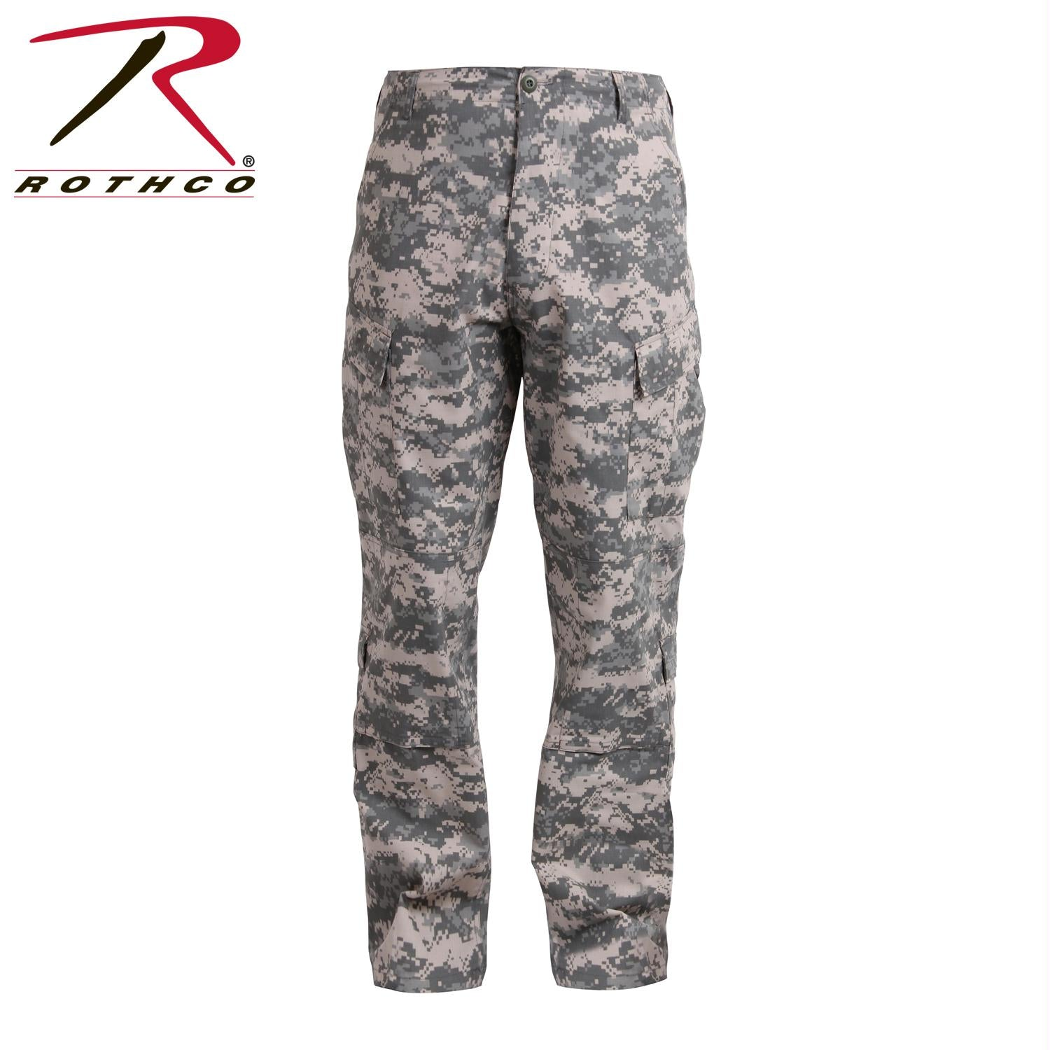Tactical ACU Pants Rip-Stop Army Combat Uniform Fatigues - ACU Digital Camo / XL