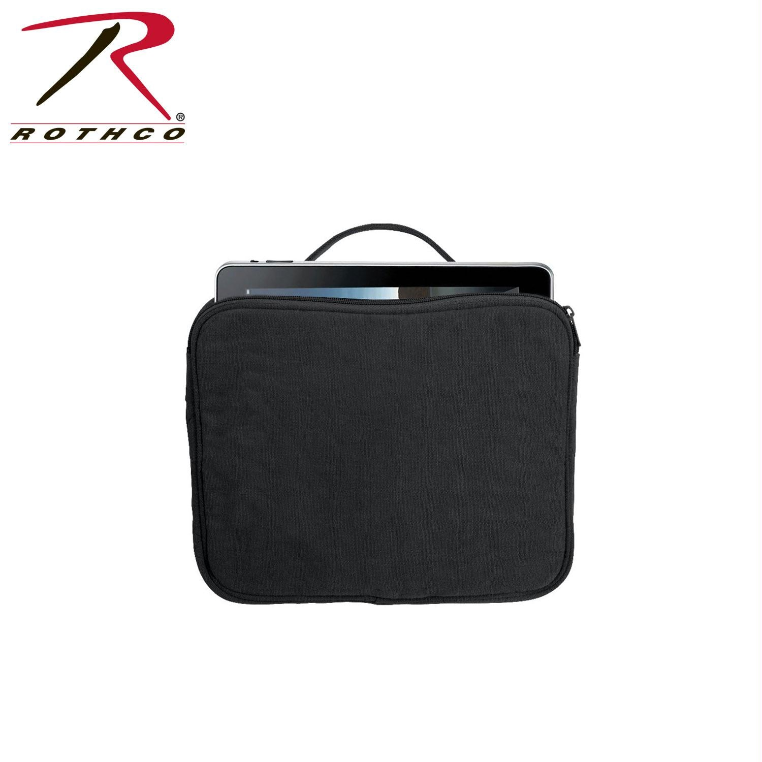 Rothco Vintage Canvas iPad / Netbook Pouch - Black